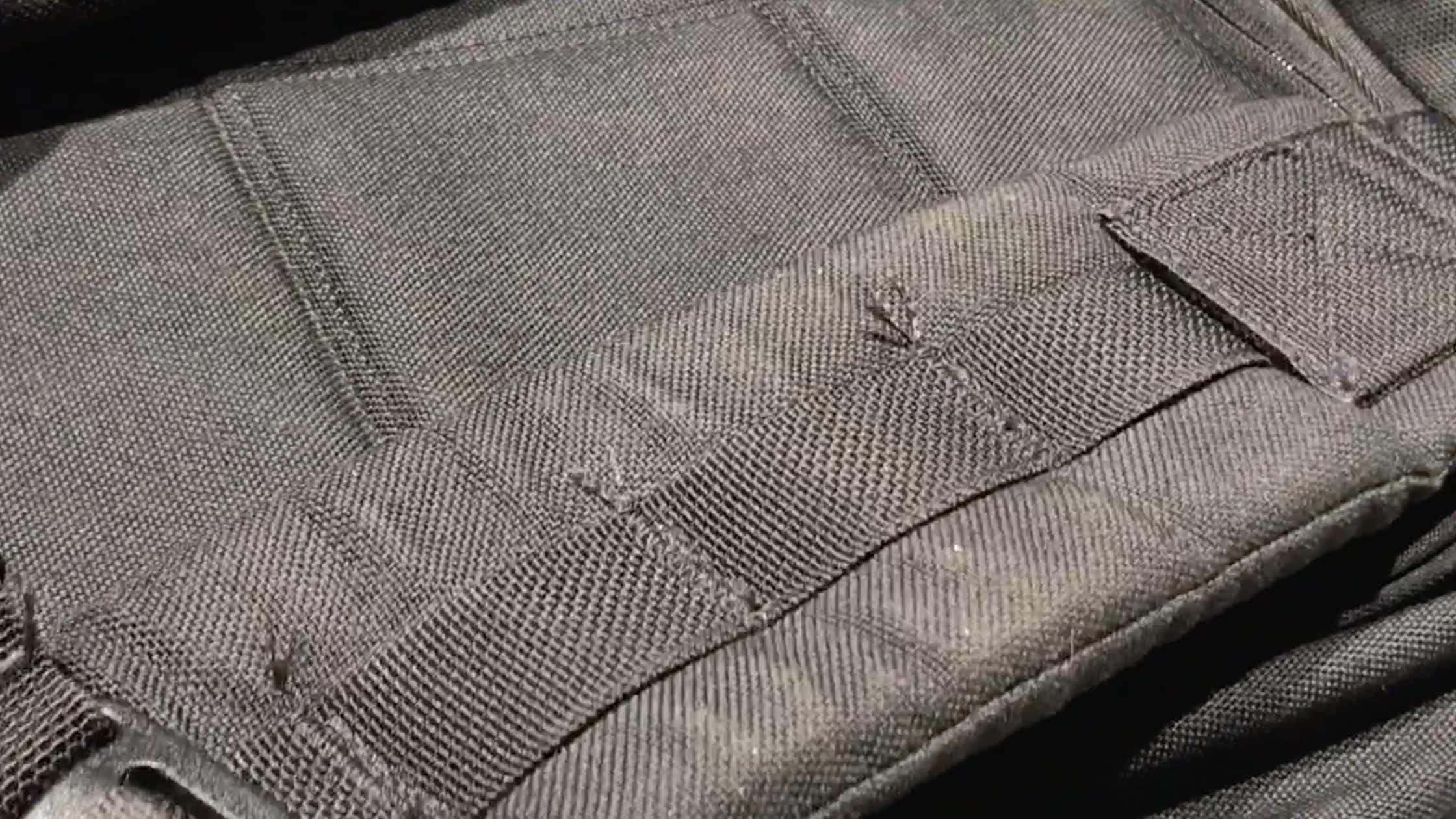Frayed areas on the GORUCK GR2