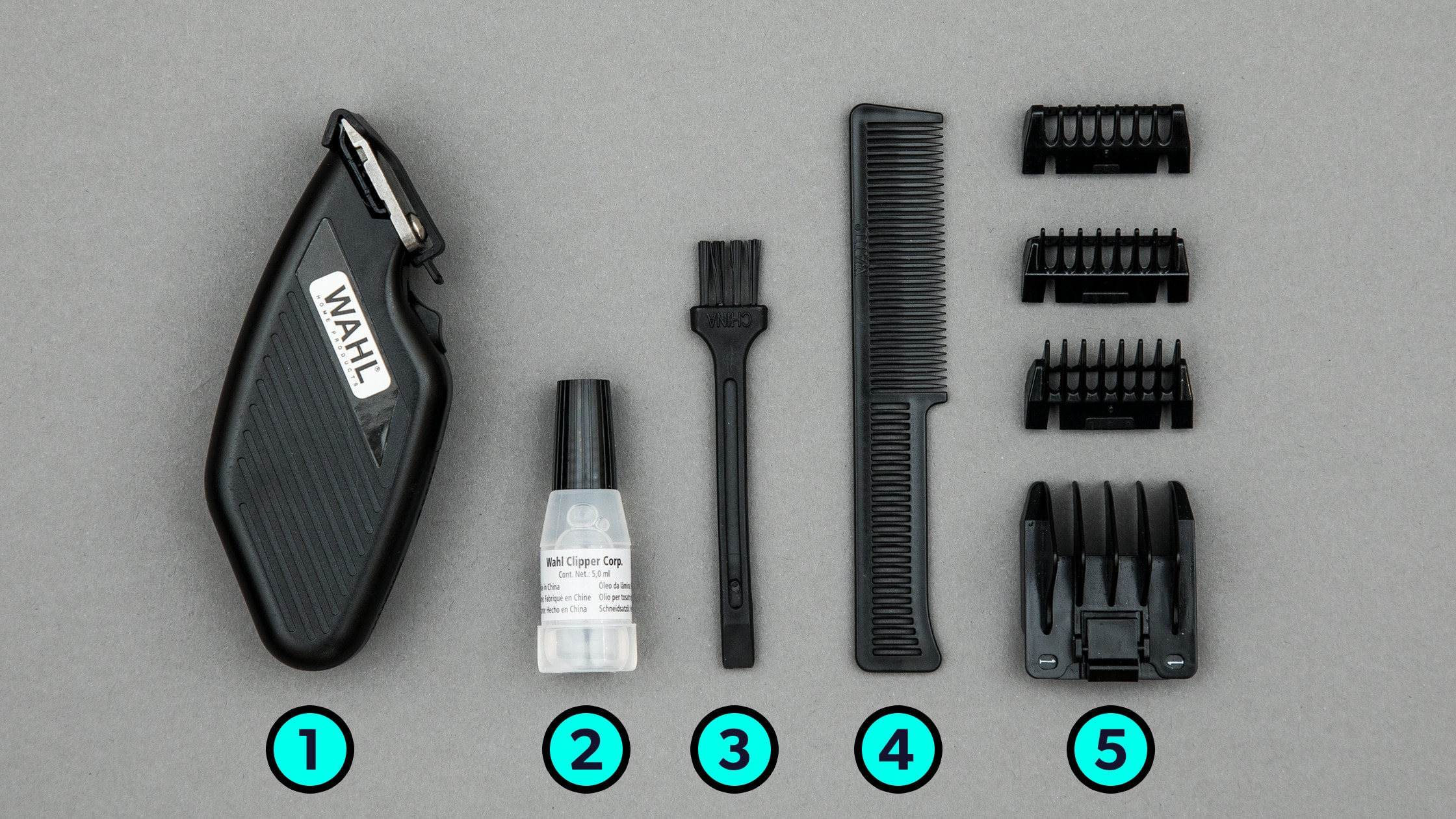 Everything that comes in the box of the WAHL Travel Trimmer