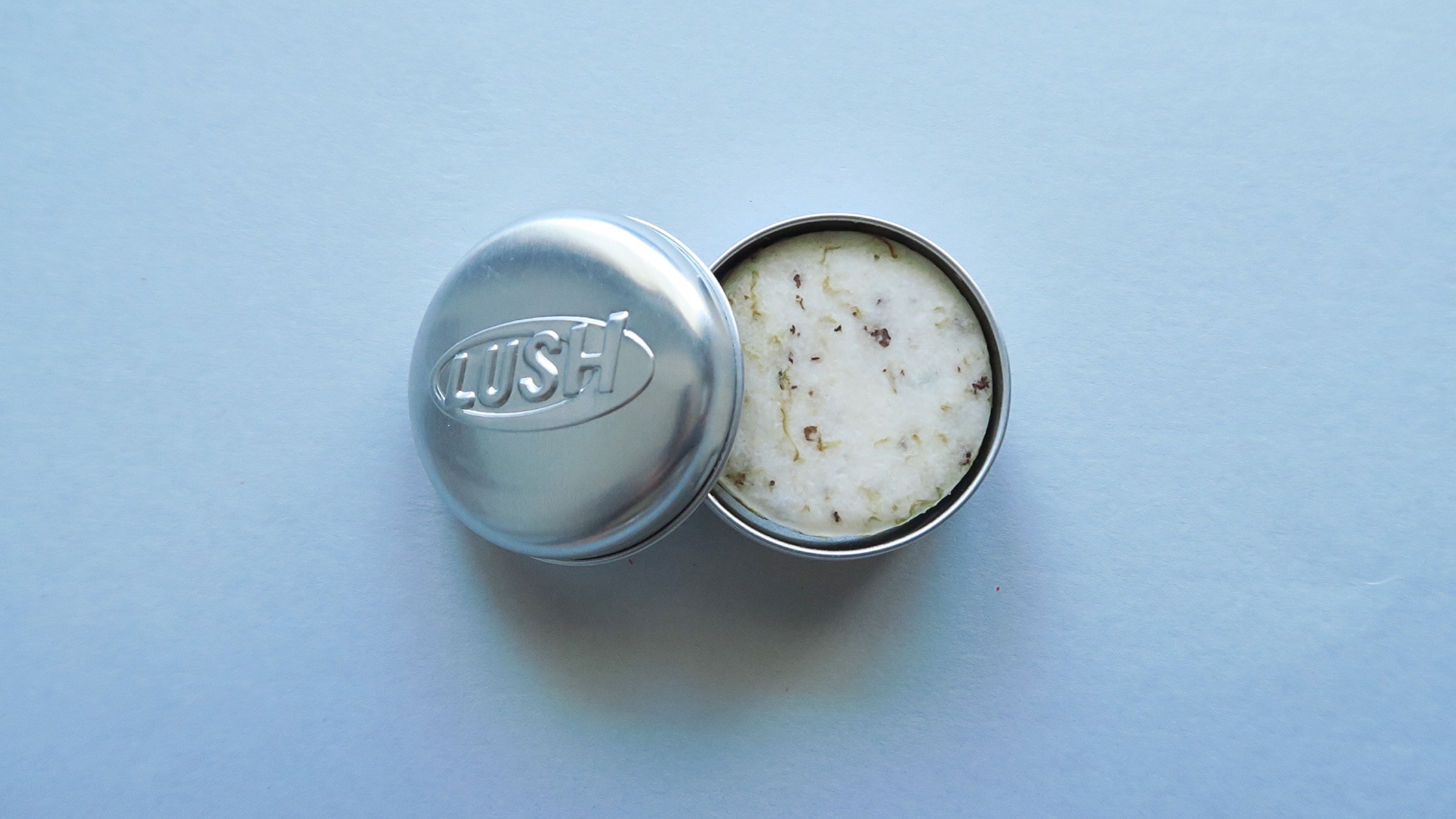 Lush Tin to help keep your bar dry and the scent a little less strong in your bag.