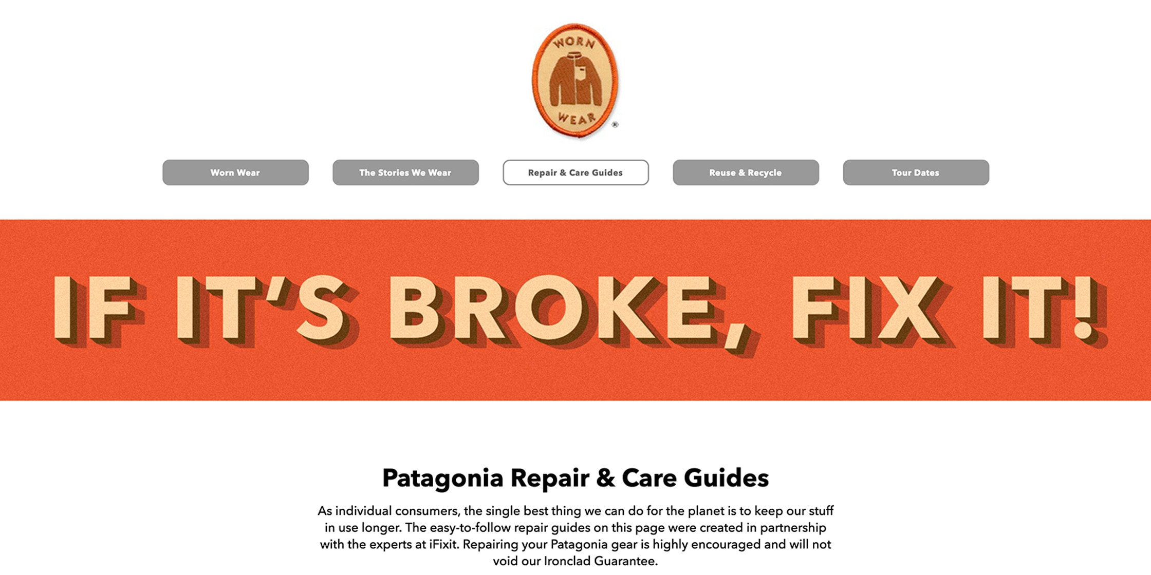 Patagonia Ironclad Guarantee