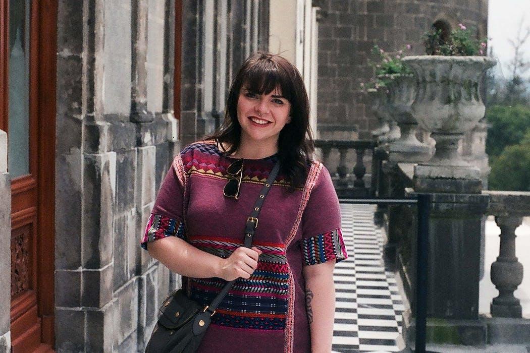 Jesi Hoolihan at Chapultepec Castle, Mexico City, Mexico
