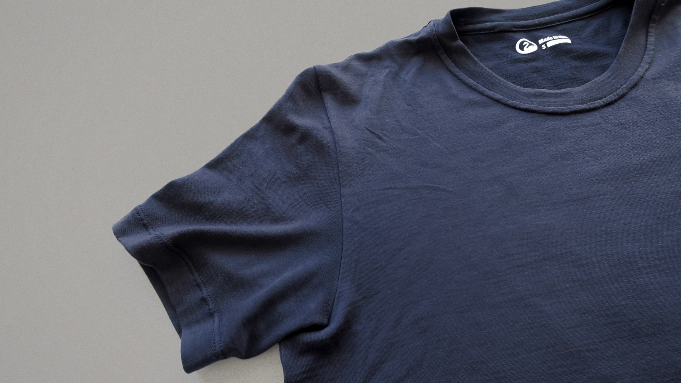 Outlier Ultrafine Merino T-Shirt Detail