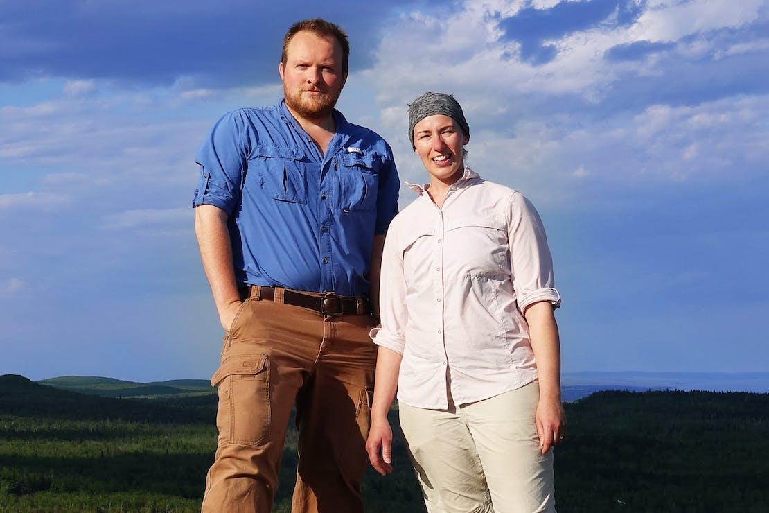 John & Heidi on Tofte Peak, North Shore of Lake Superior, Minnesota