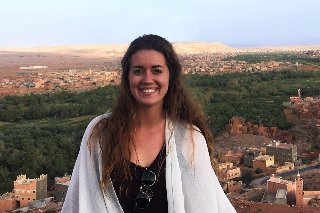 Samantha Schaible in Ouarzazate, Morocco