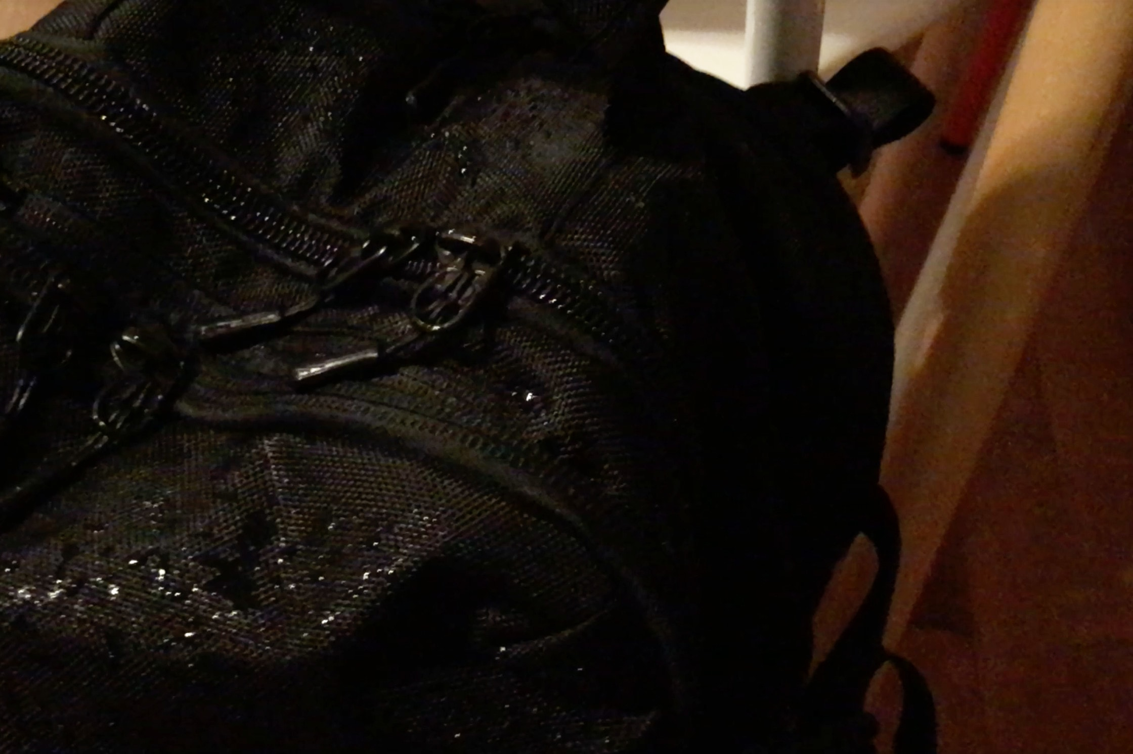 Water Drops on Aer Travel Pack
