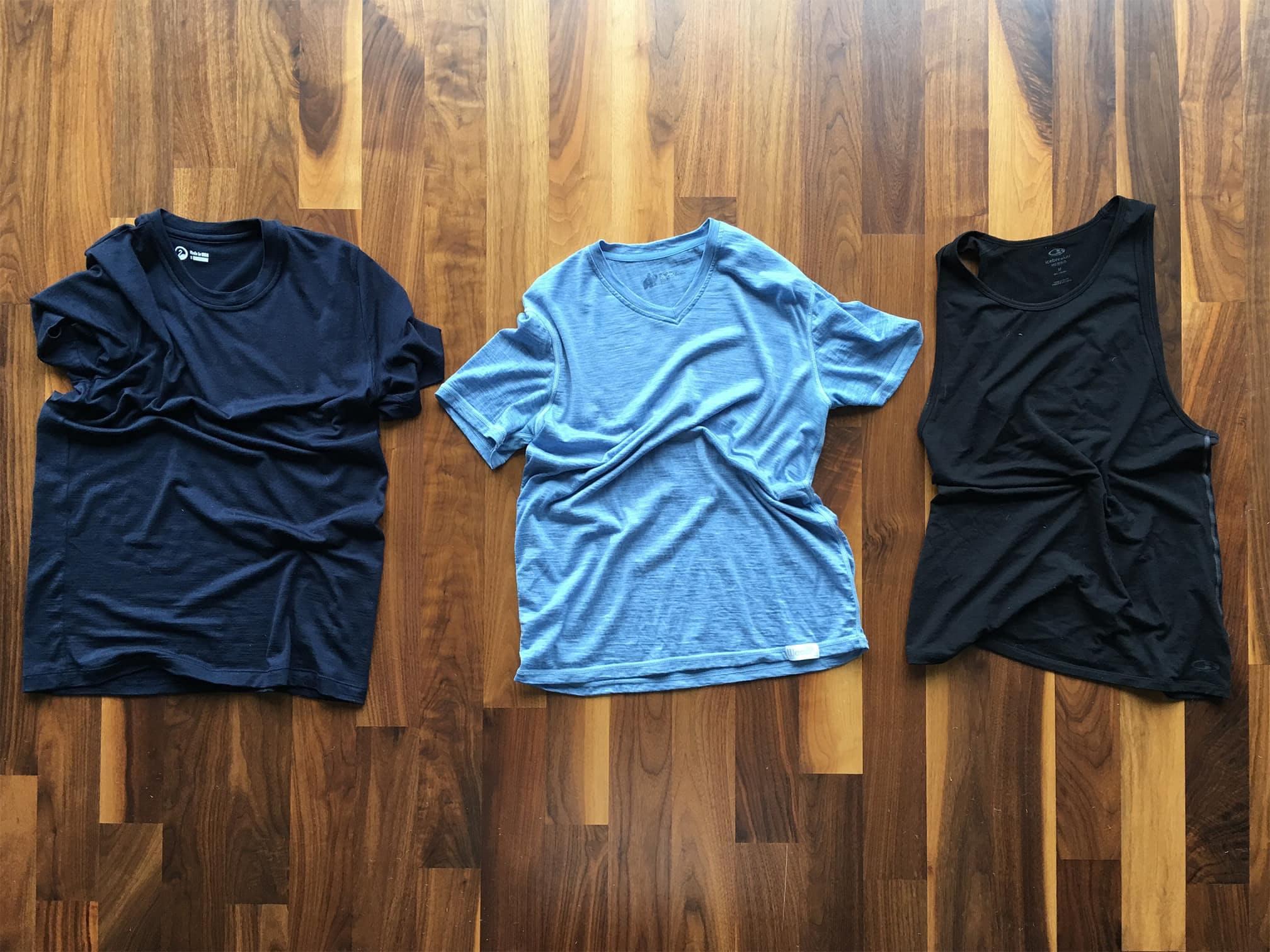 Outlier Ultrafine Merino T-Shirt | Woolly Short Sleeve Ultralight V-Neck | Icebreaker Men's Anatomica Tank Top
