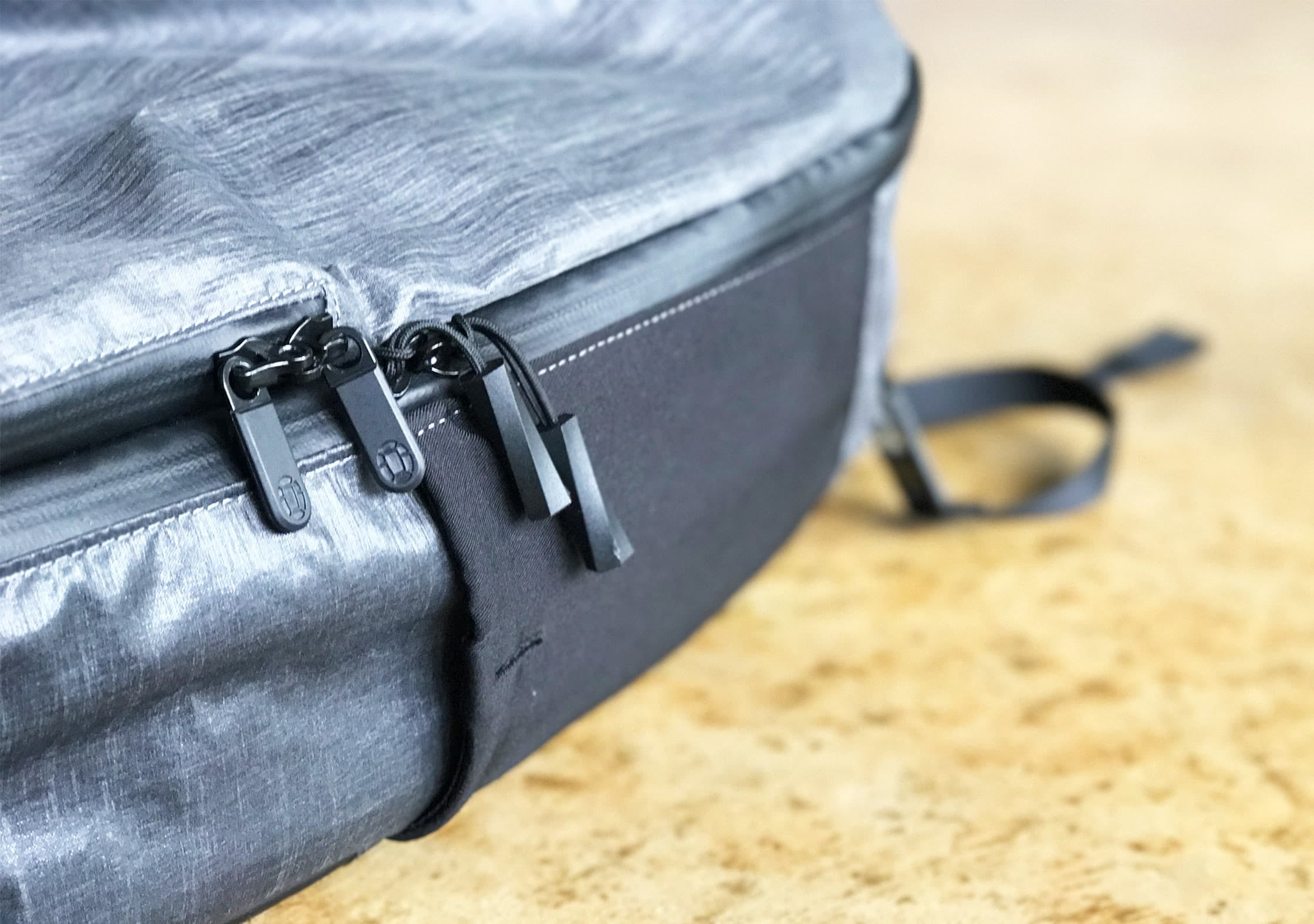 Lockable and water resistant YKK Zippers on the Tortuga Homebase Backpack