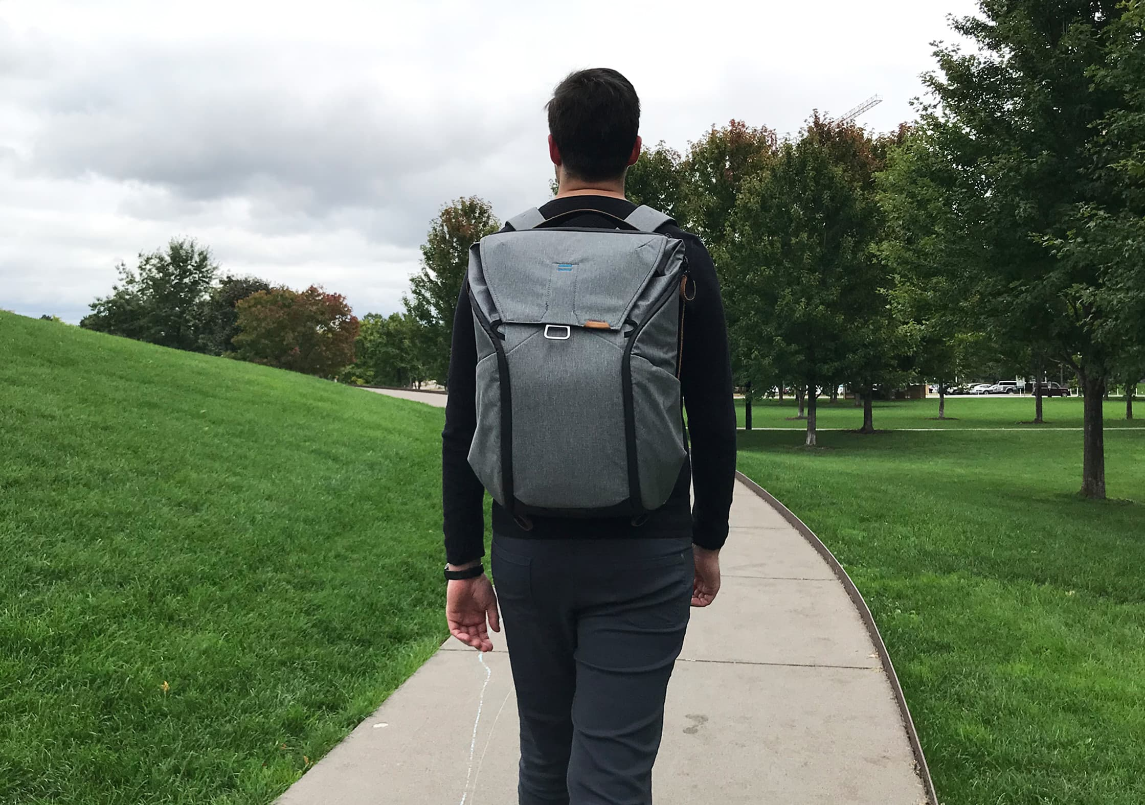 Walking with the Peak Design Everyday Backpack