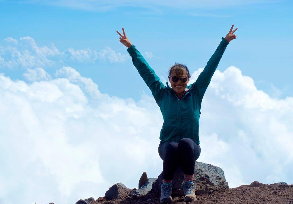 Roxanne Ravago on Mount Fuji, Shizuoka, Japan