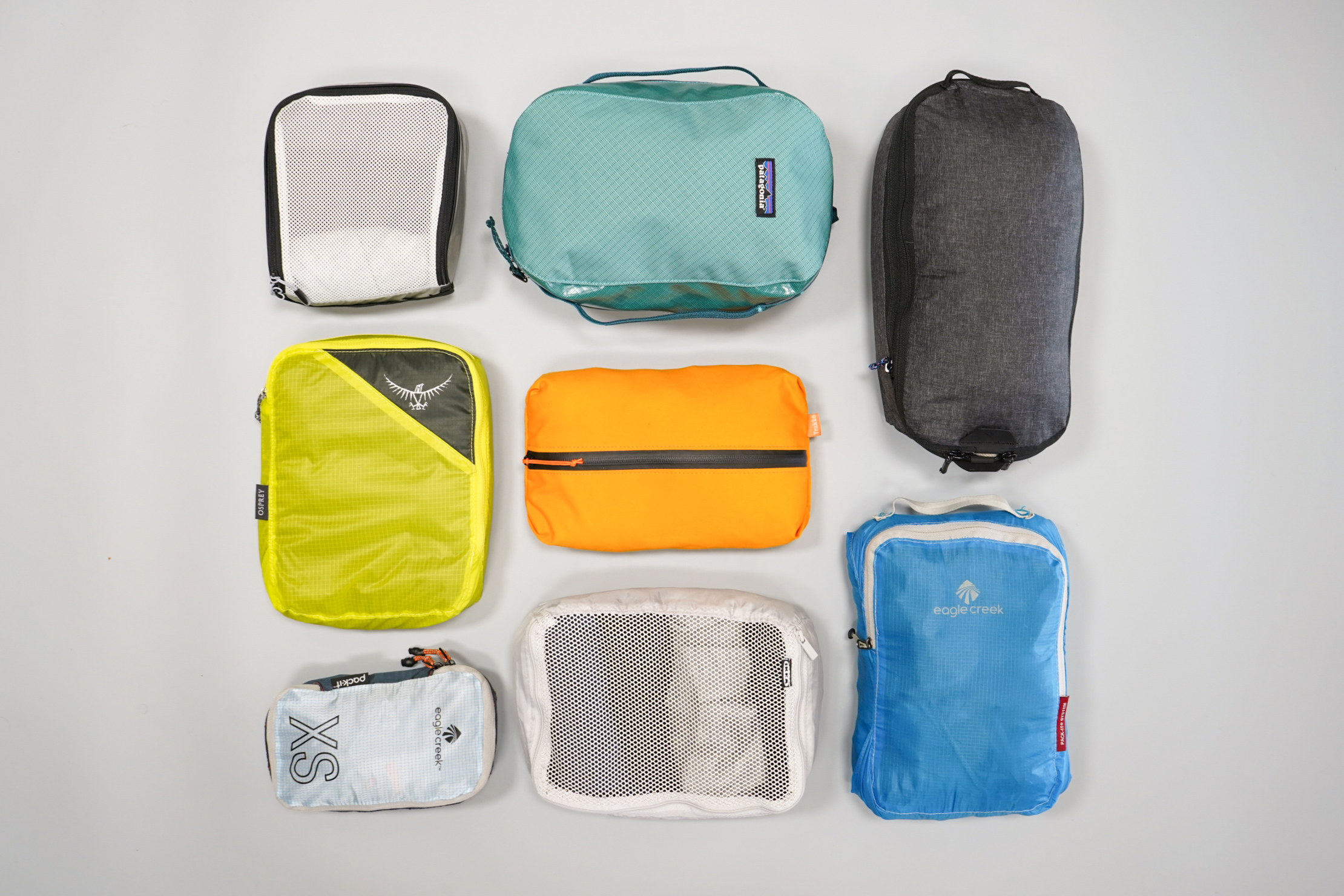 Packing Cubes Flat Lay