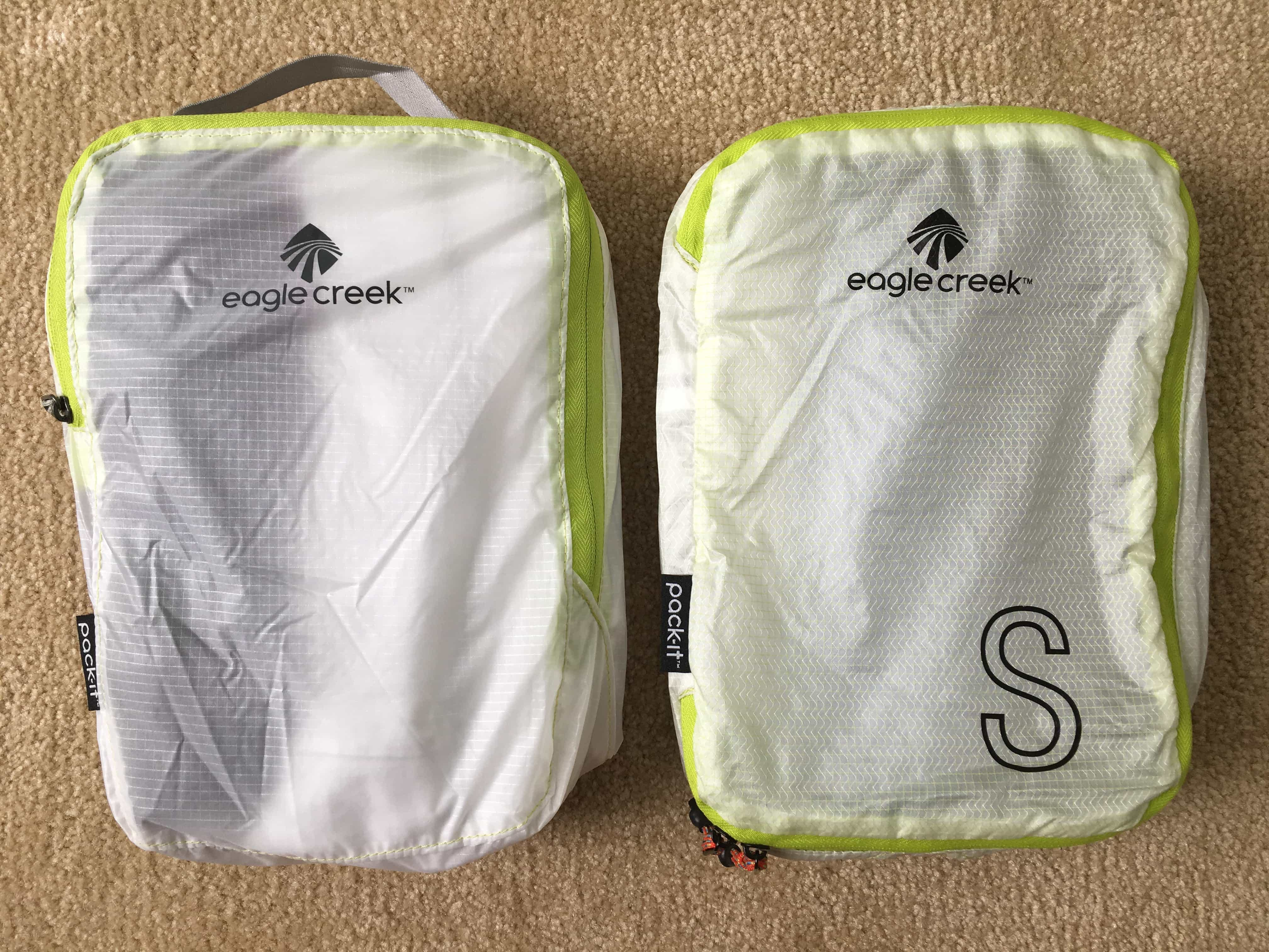 Eagle Creek Pack-It Specter Cube (left) and Specter Tech Cube (right)
