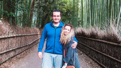 Rebecca & Nathan of Always A Friday | Arashiyama Bamboo Forest, Kyoto, Japan
