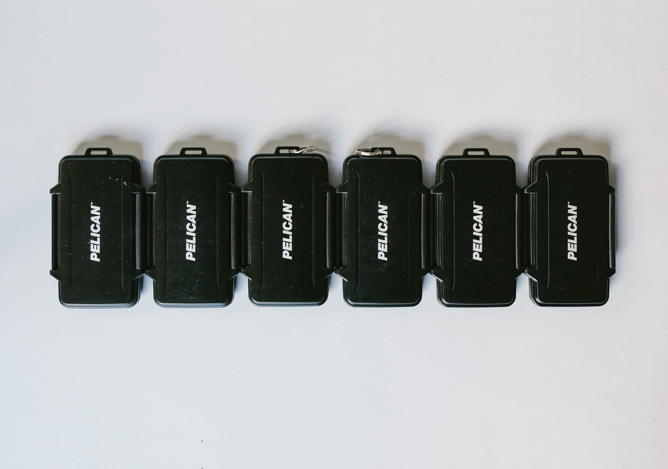 Pelican Memory Card Cases - 6 in a row
