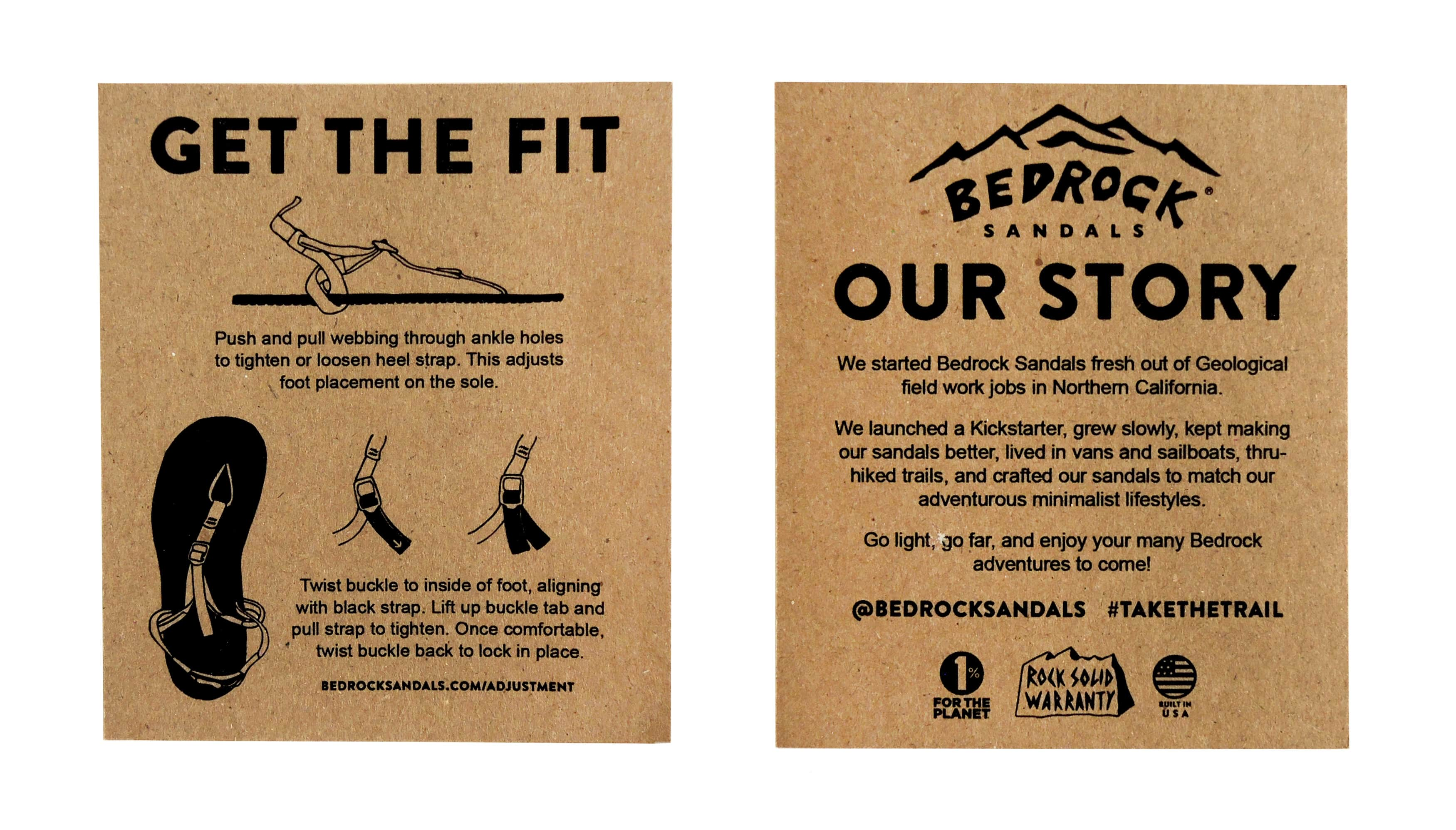 Bedrock Classic Sandals | Product Card