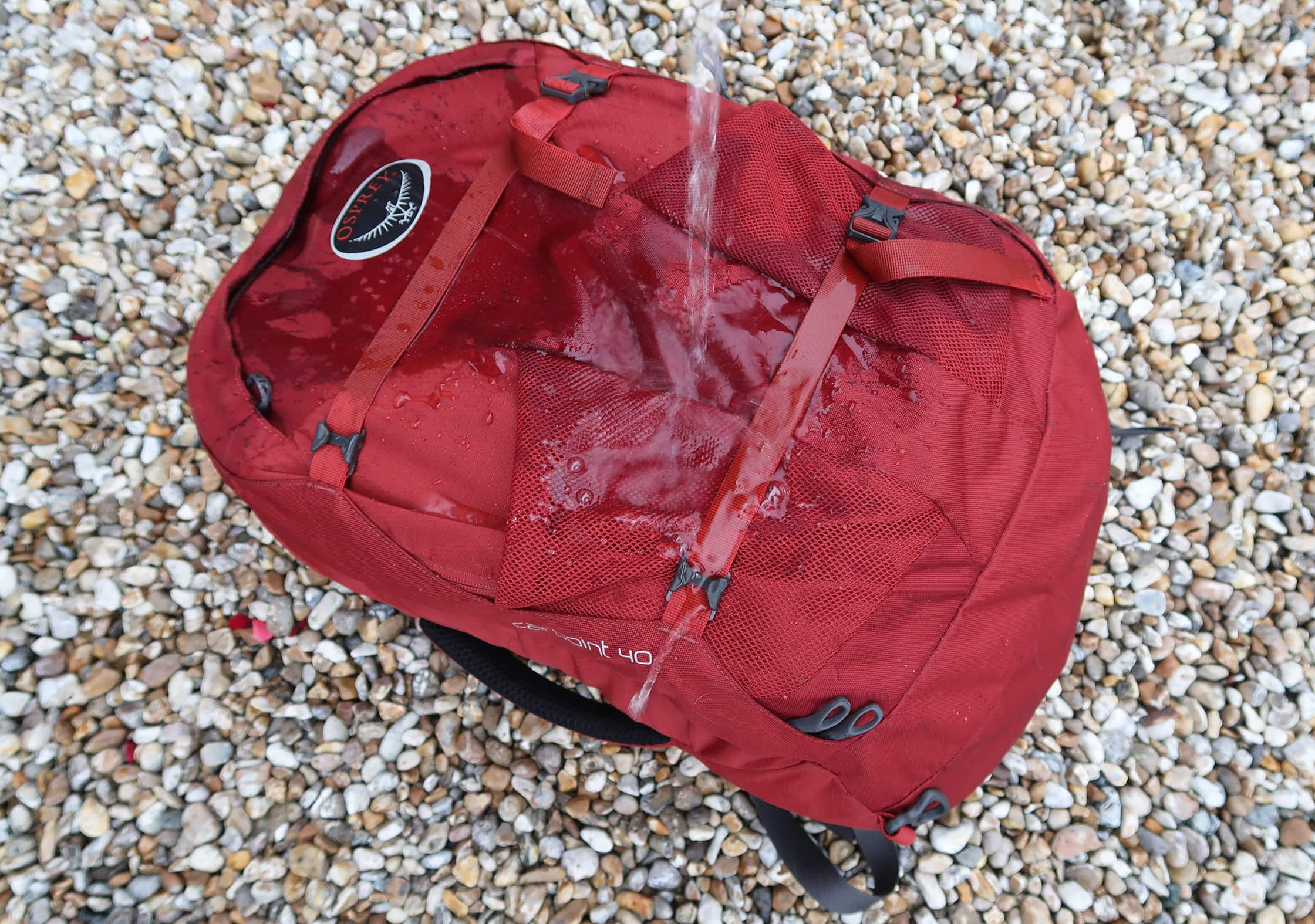 Osprey Farpoint 40 Water Resistance Testing