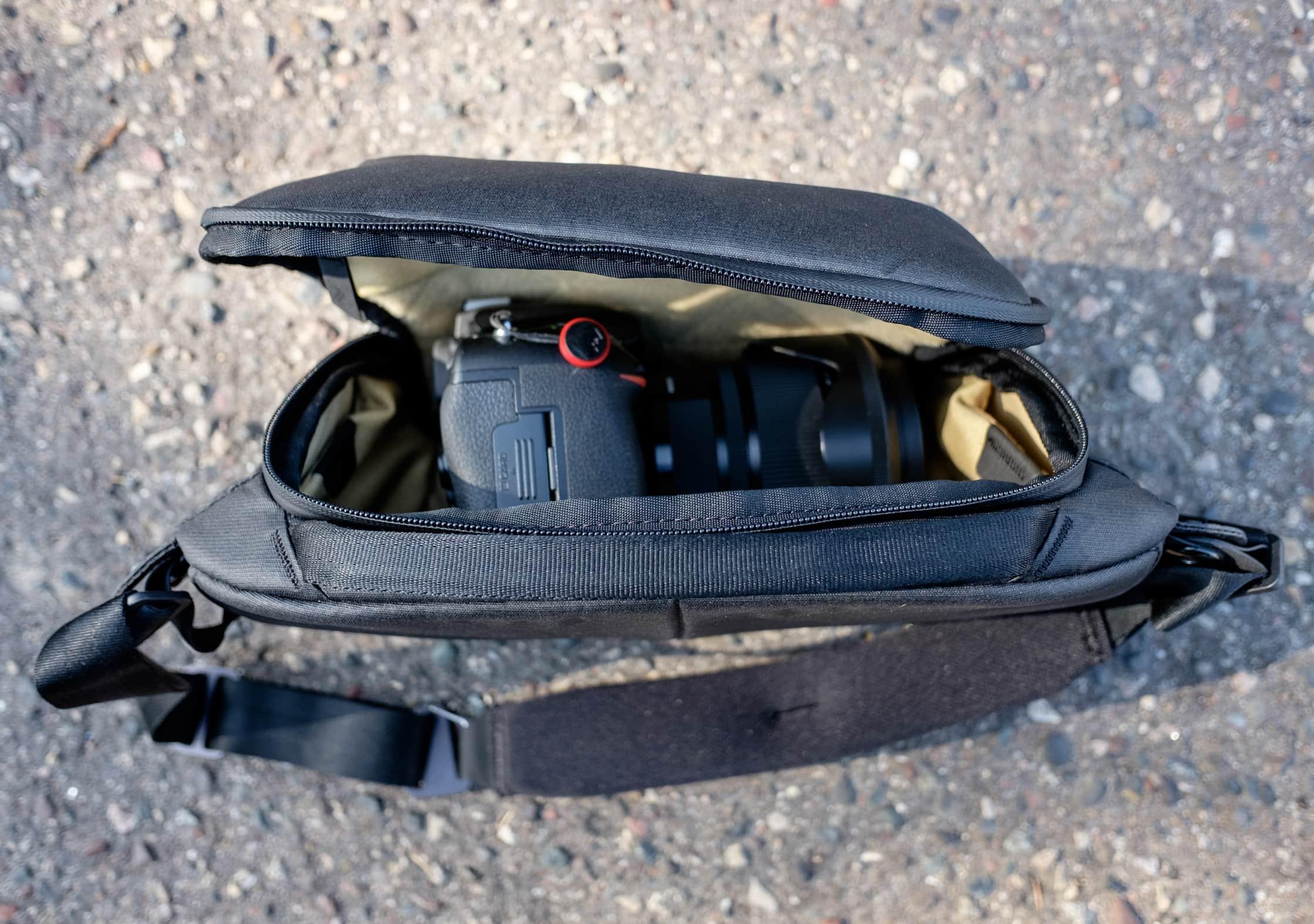 Peak Design Everyday Sling 5L Full-Size Camera Inside