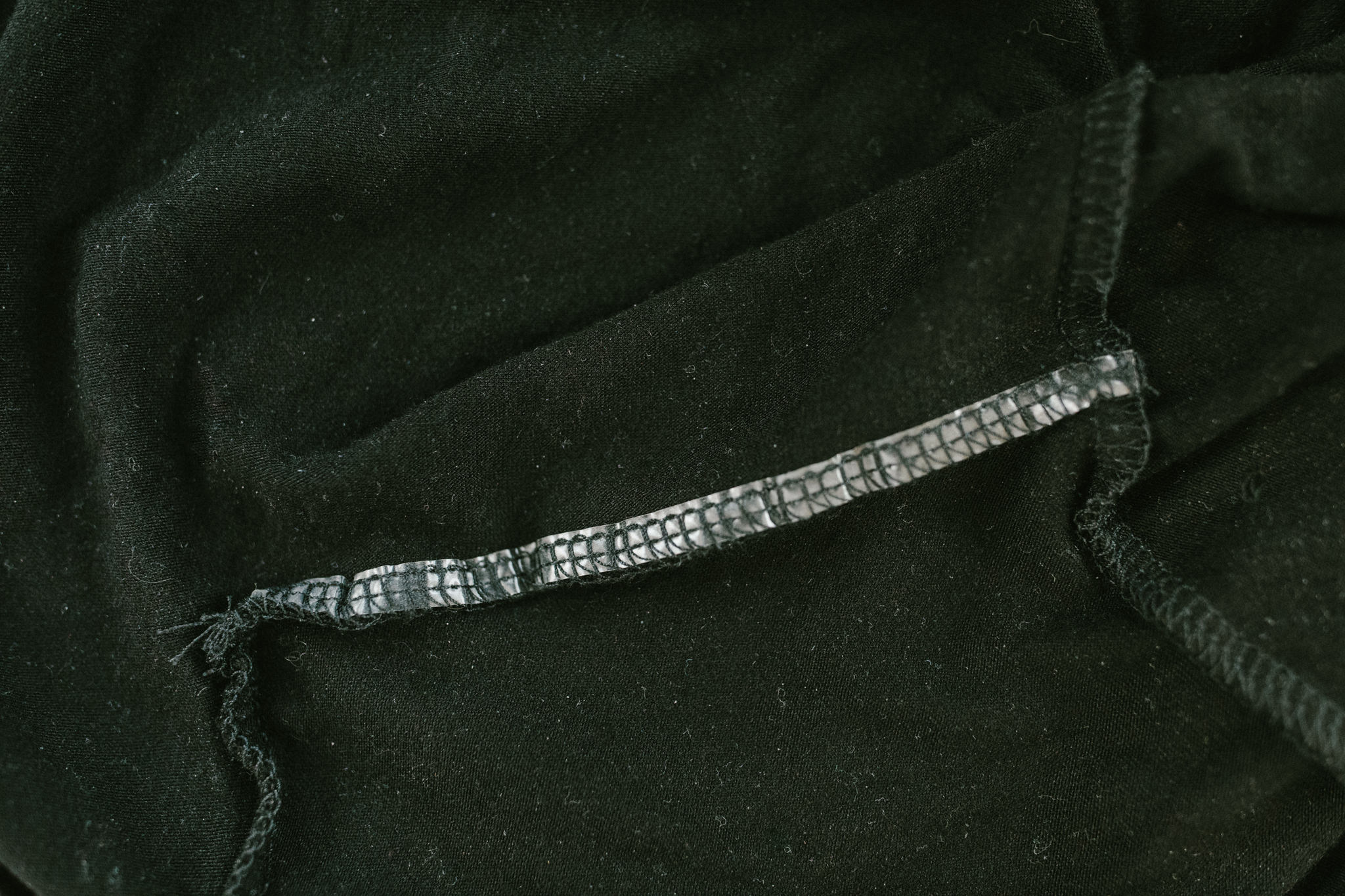 Elastic sewn into the shoulder of the Everyday Twist Top