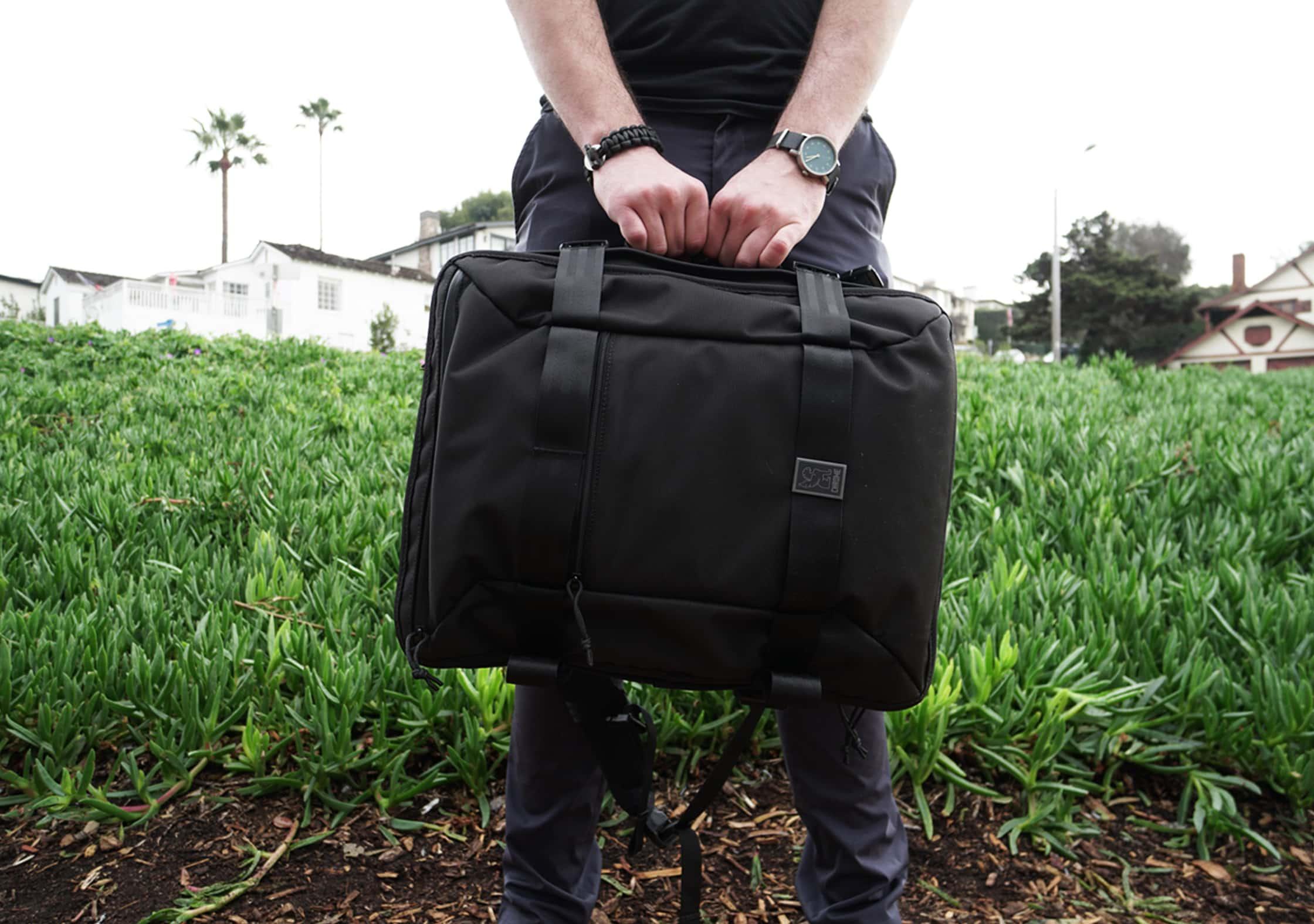 Chrome Macheto Travel Backpack Briefcase Handle