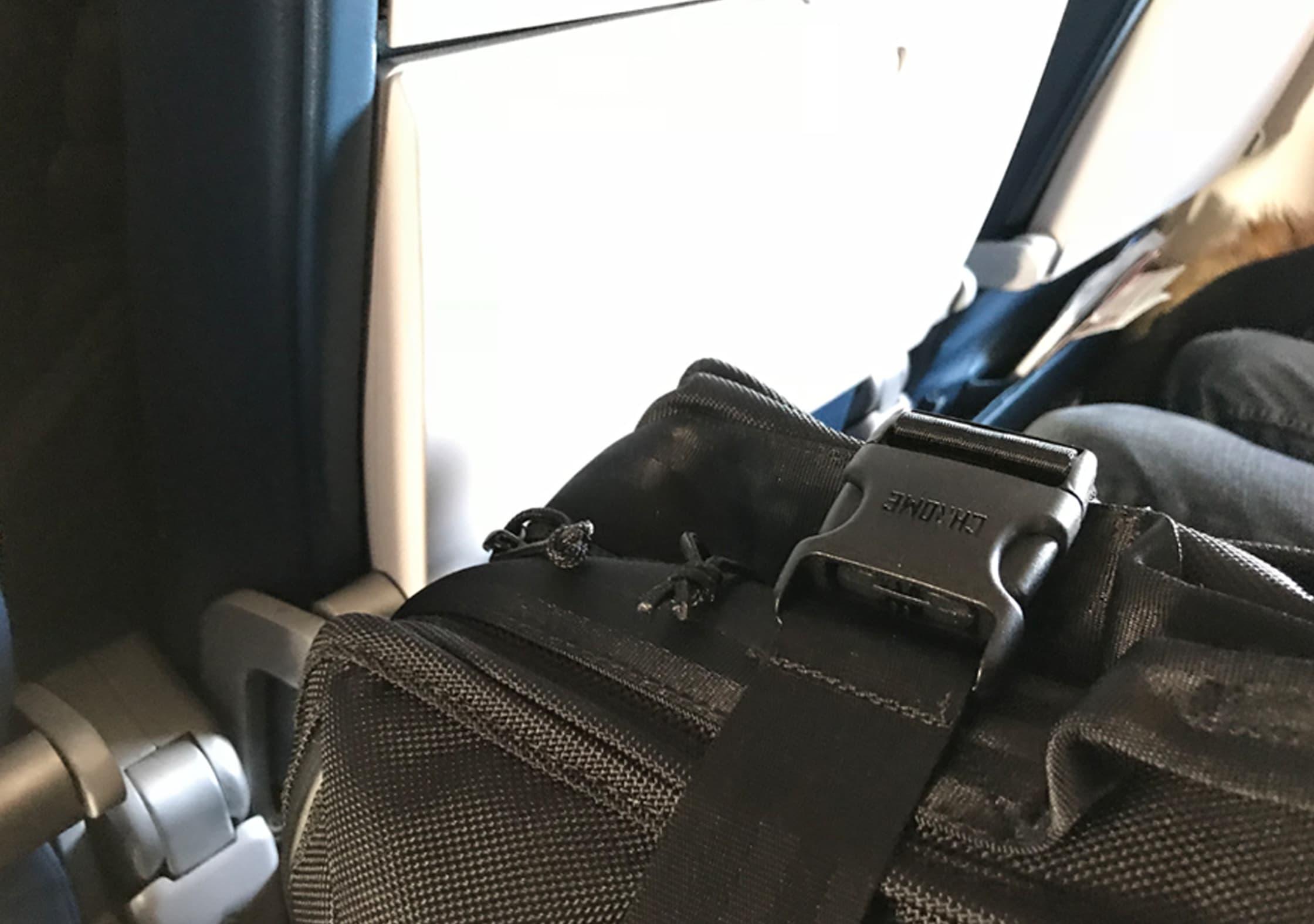 Chrome Macheto Travel Backpack Compression Buckle