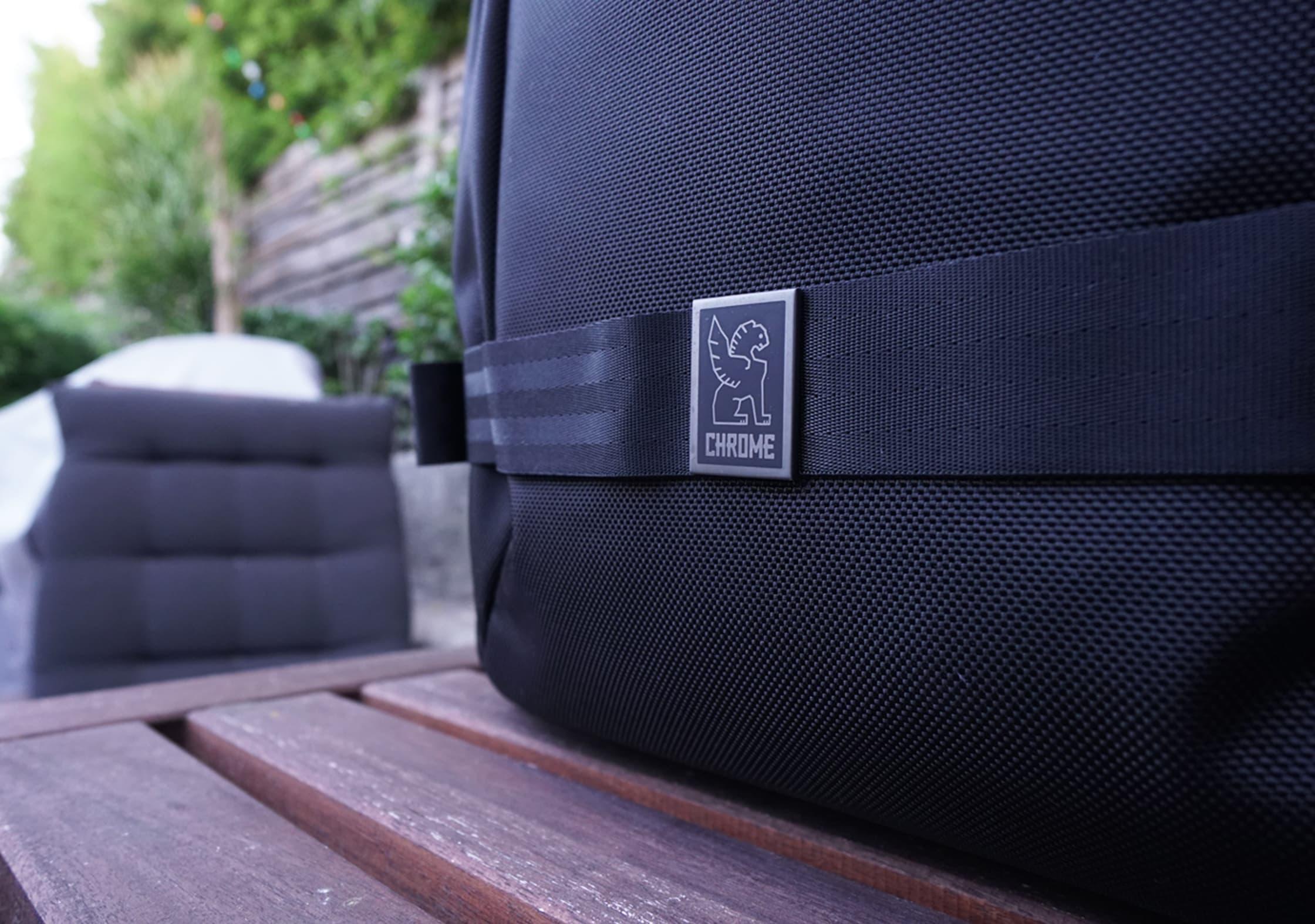 Chrome Macheto Travel Backpack Logo