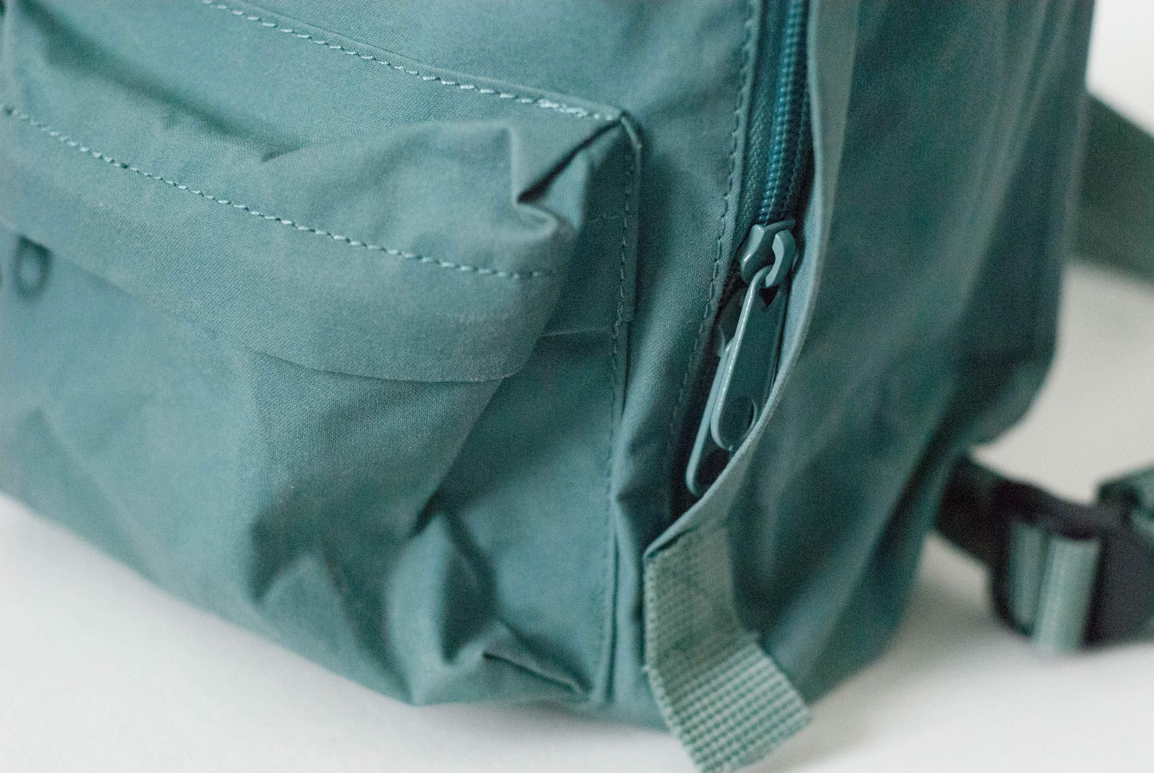 Fjallraven Kanken Mini Zipper and Front Pocket Detail