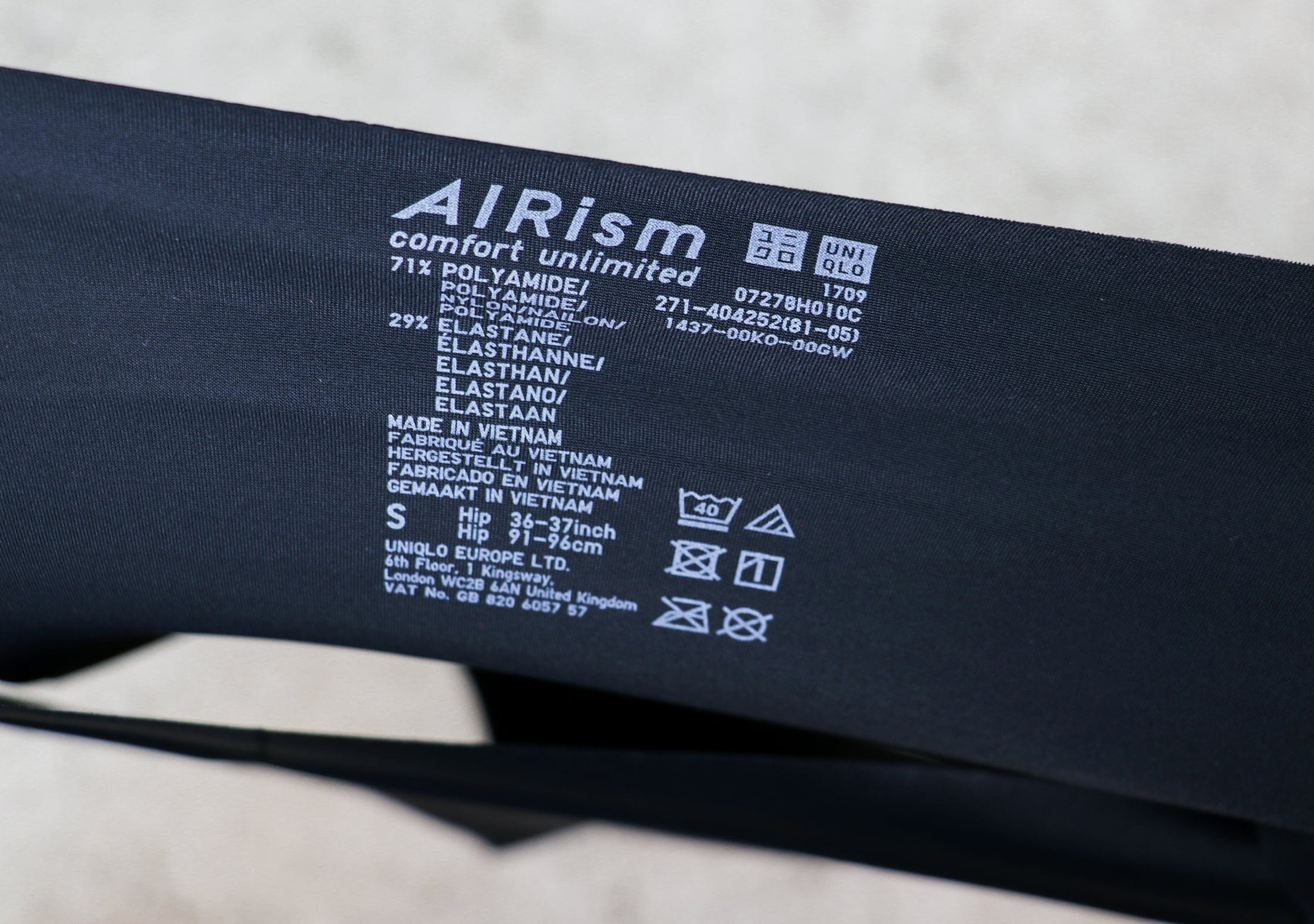 Uniqlo AIRism Ultra Seamless Bikini Shorts Label