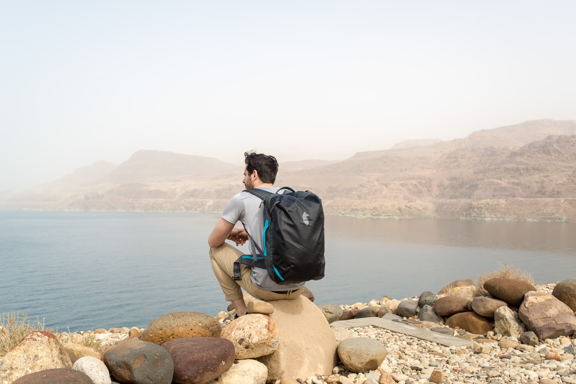 Wearing the Cotopaxi Allpa 35L Travel Pack in Jordan