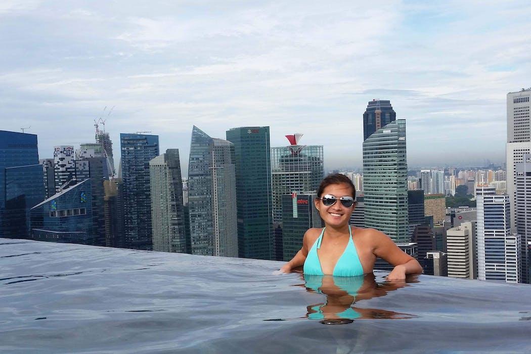 Jackie Austin in Singapore