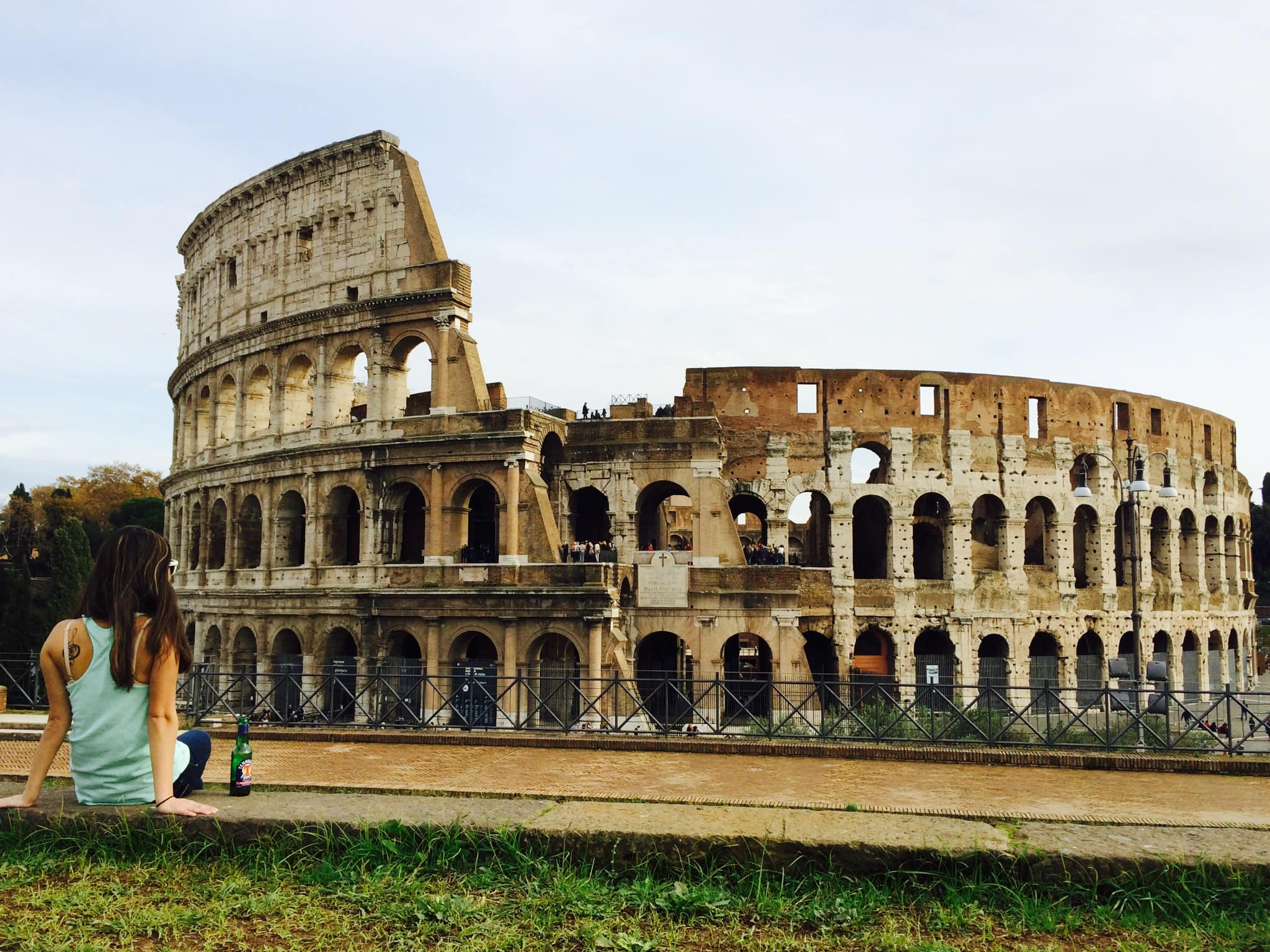 Jackie at the Colosseum in Rome