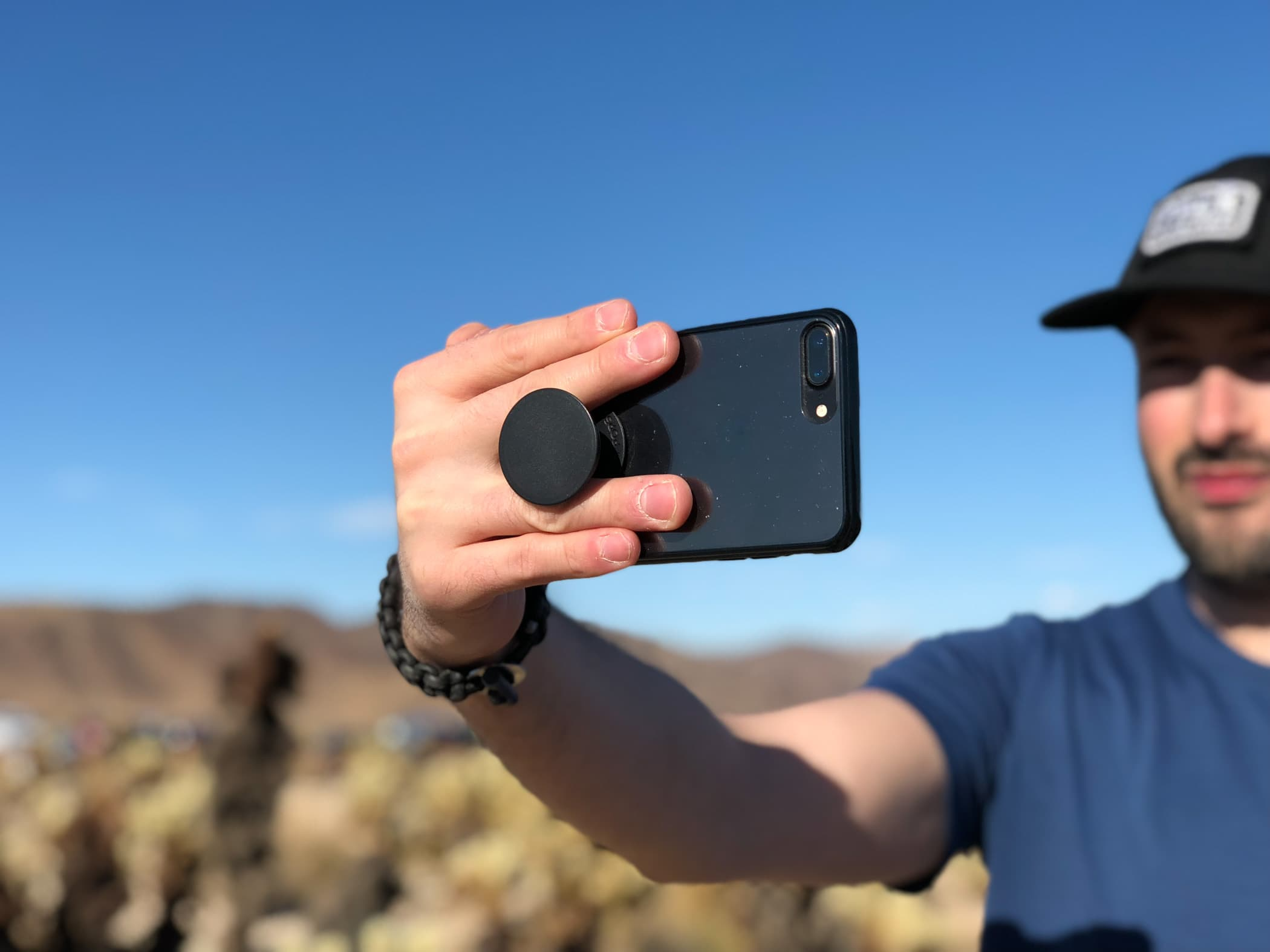 Testing the PopSockets in Joshua Tree