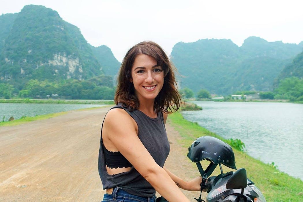 Rebecca Liebert in Ninh Binh Vietnam