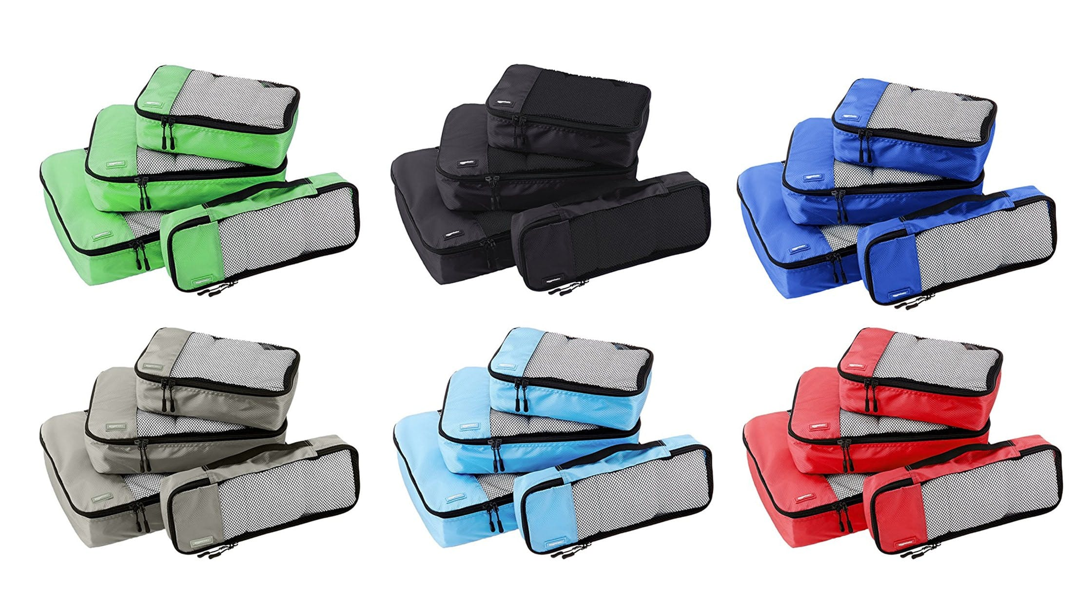 Different AmazonBasics Packing Cubes Colors