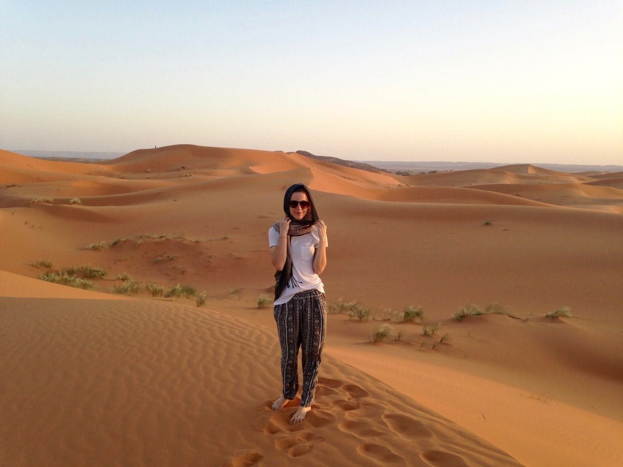 Natasha Brownlee in the Sahara Desert, Morocco