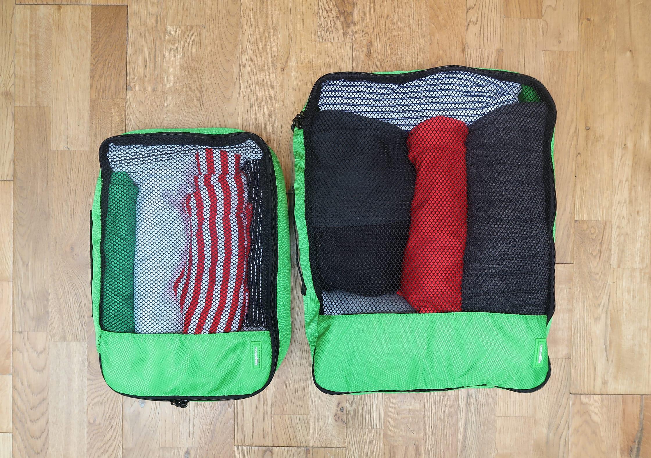 AmazonBasics Packing Cubes Large & Medium Sizes