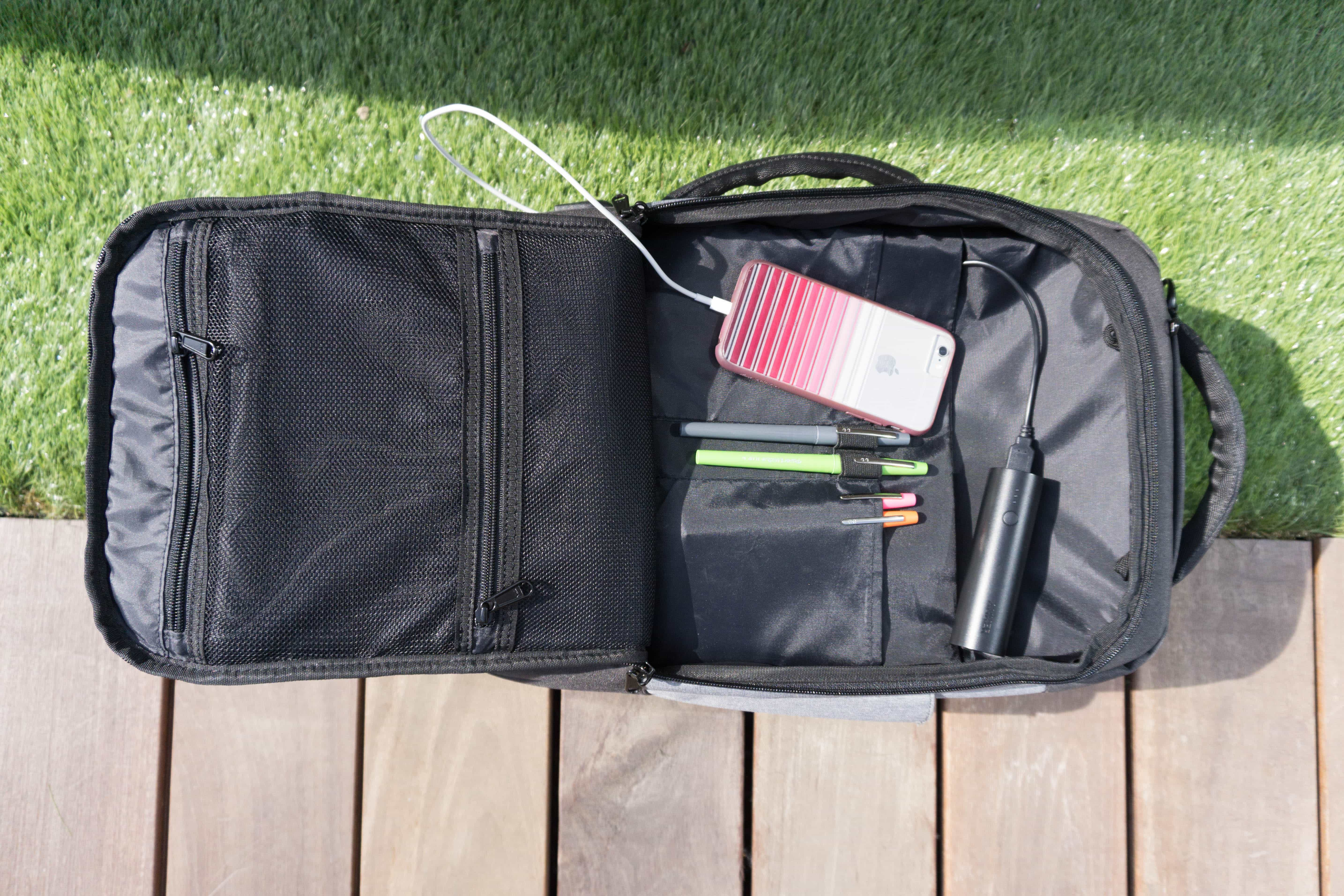 Standard Luggage Co. Daily Backpack Front Compartment