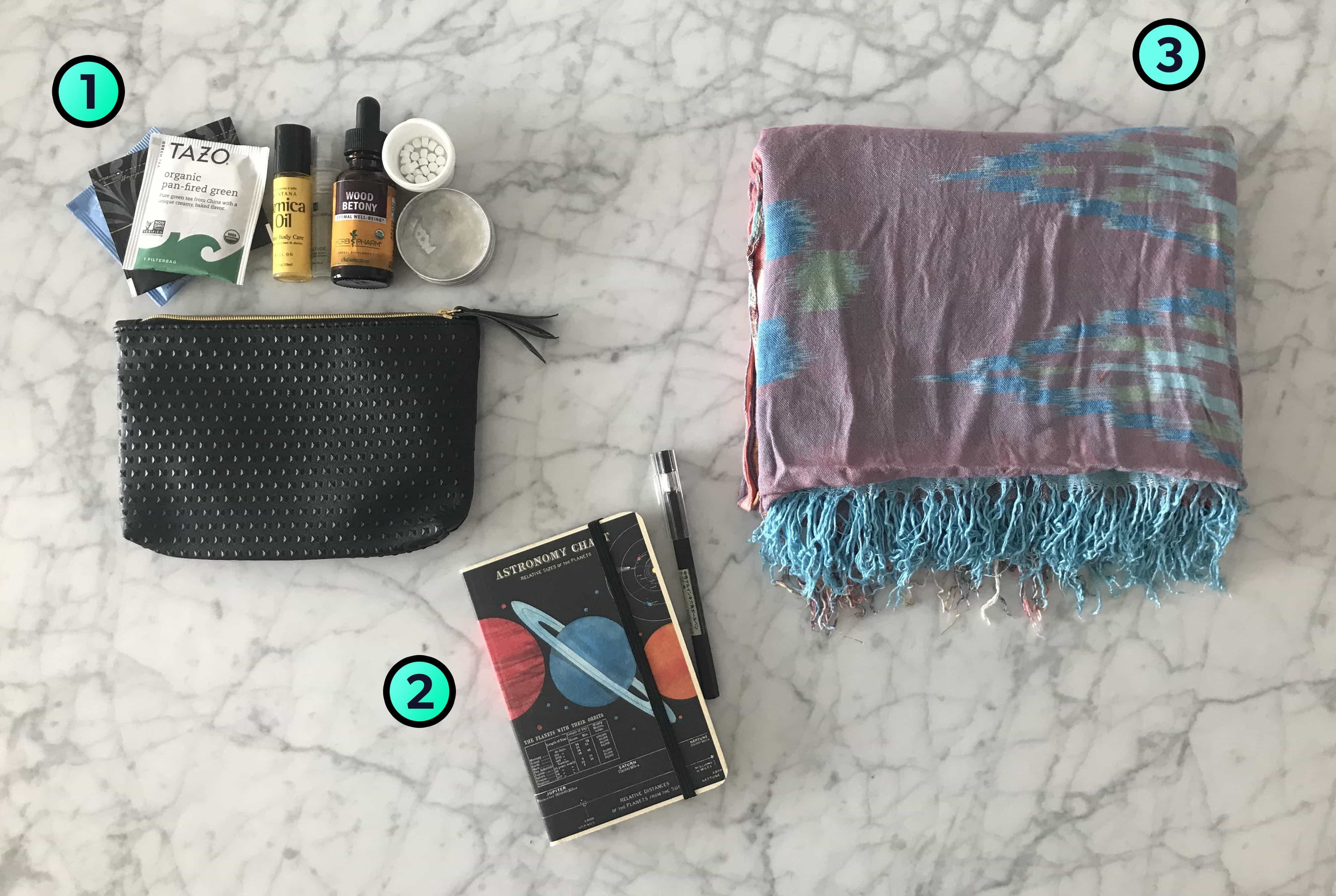 Kelsey Reinke's Trusty Travel Items
