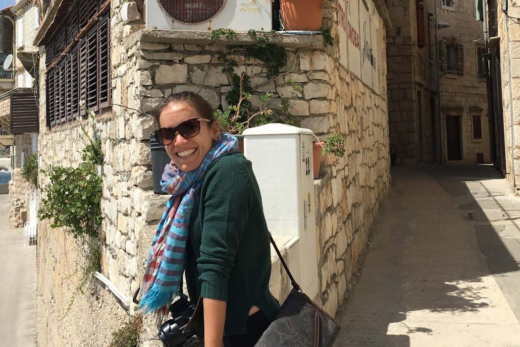 Kelsey Reinke in Vis, Croatia