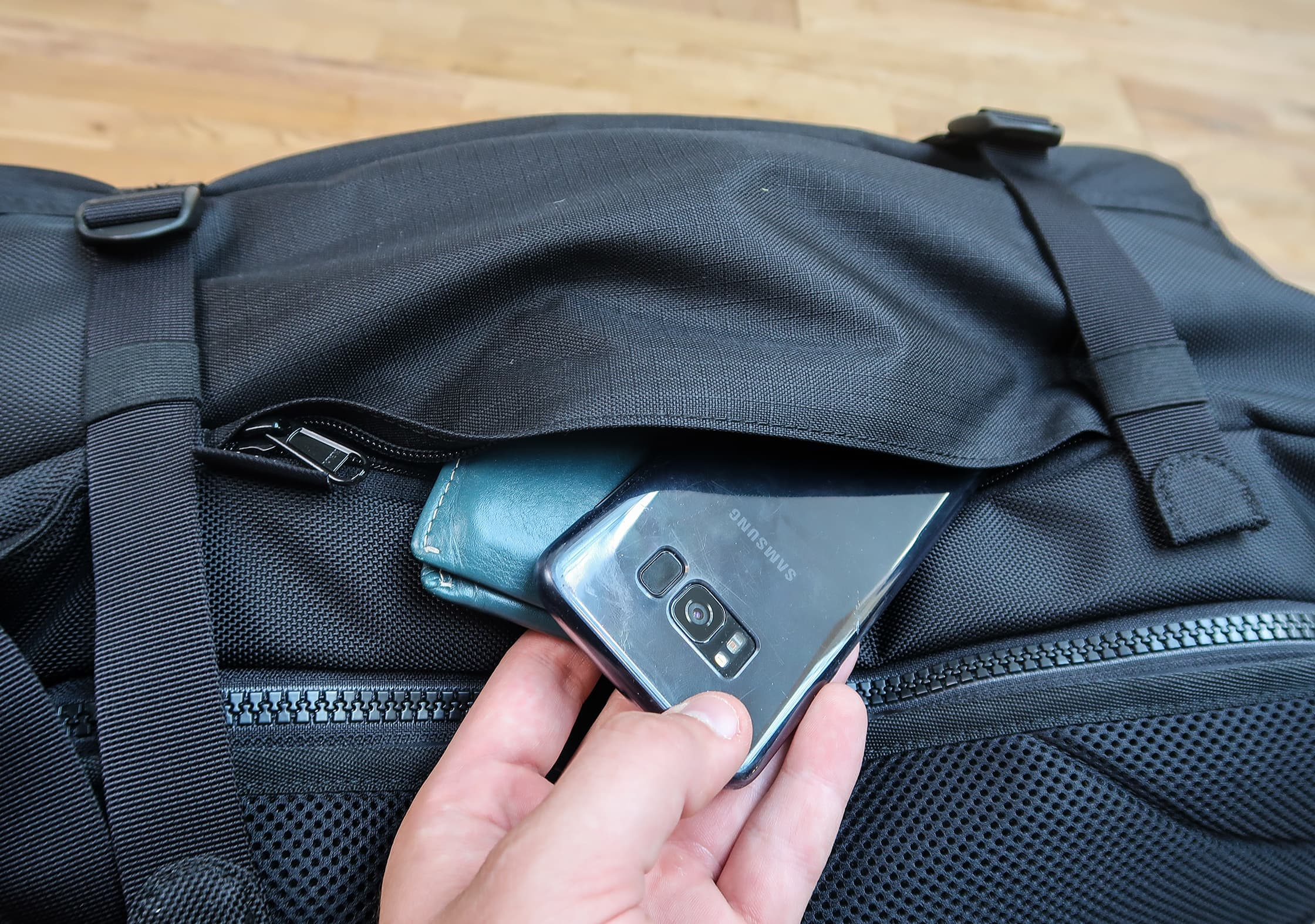 Side Quick Access Pocket
