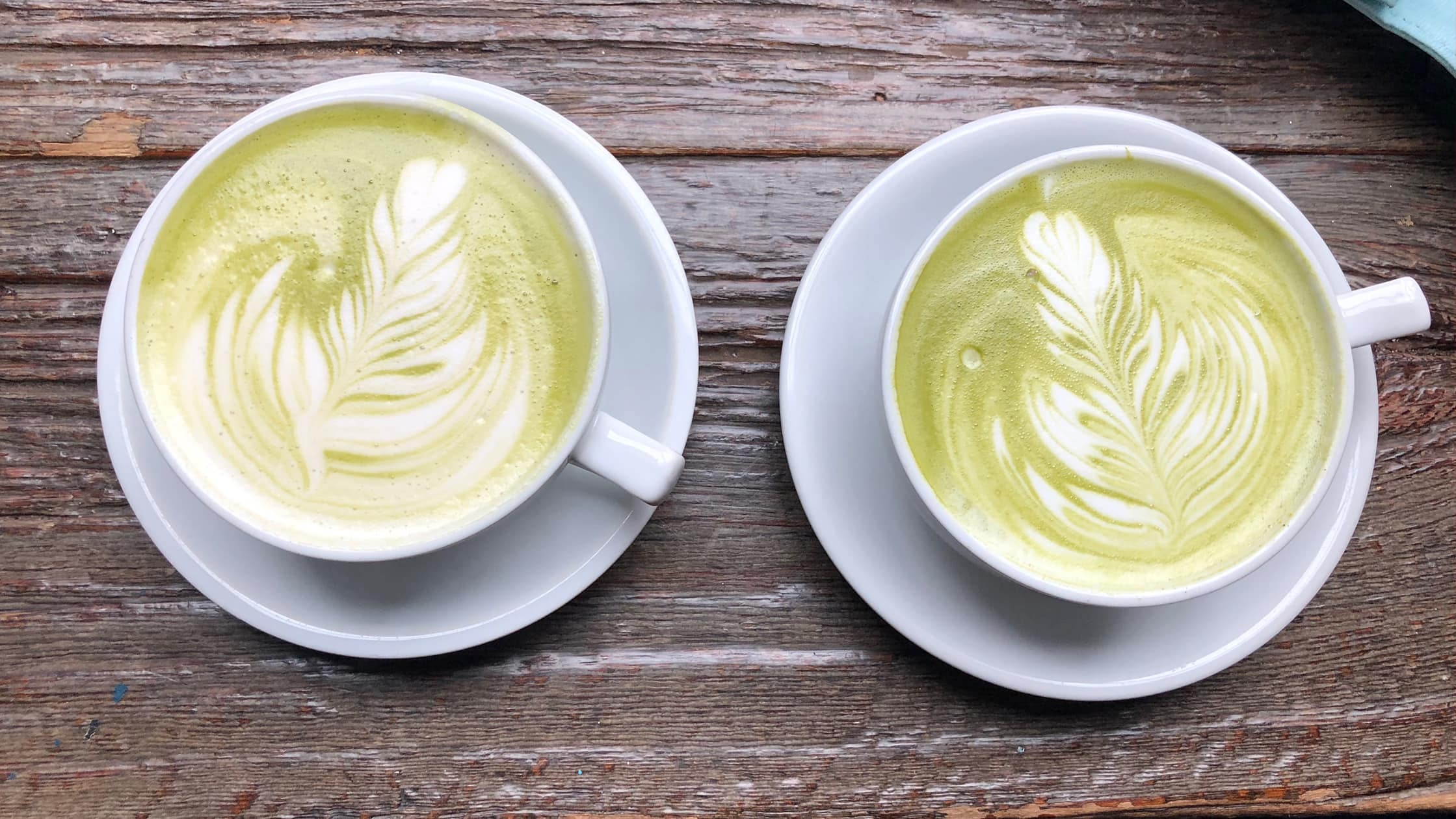 Matcha Tea Latte With Soy Milk