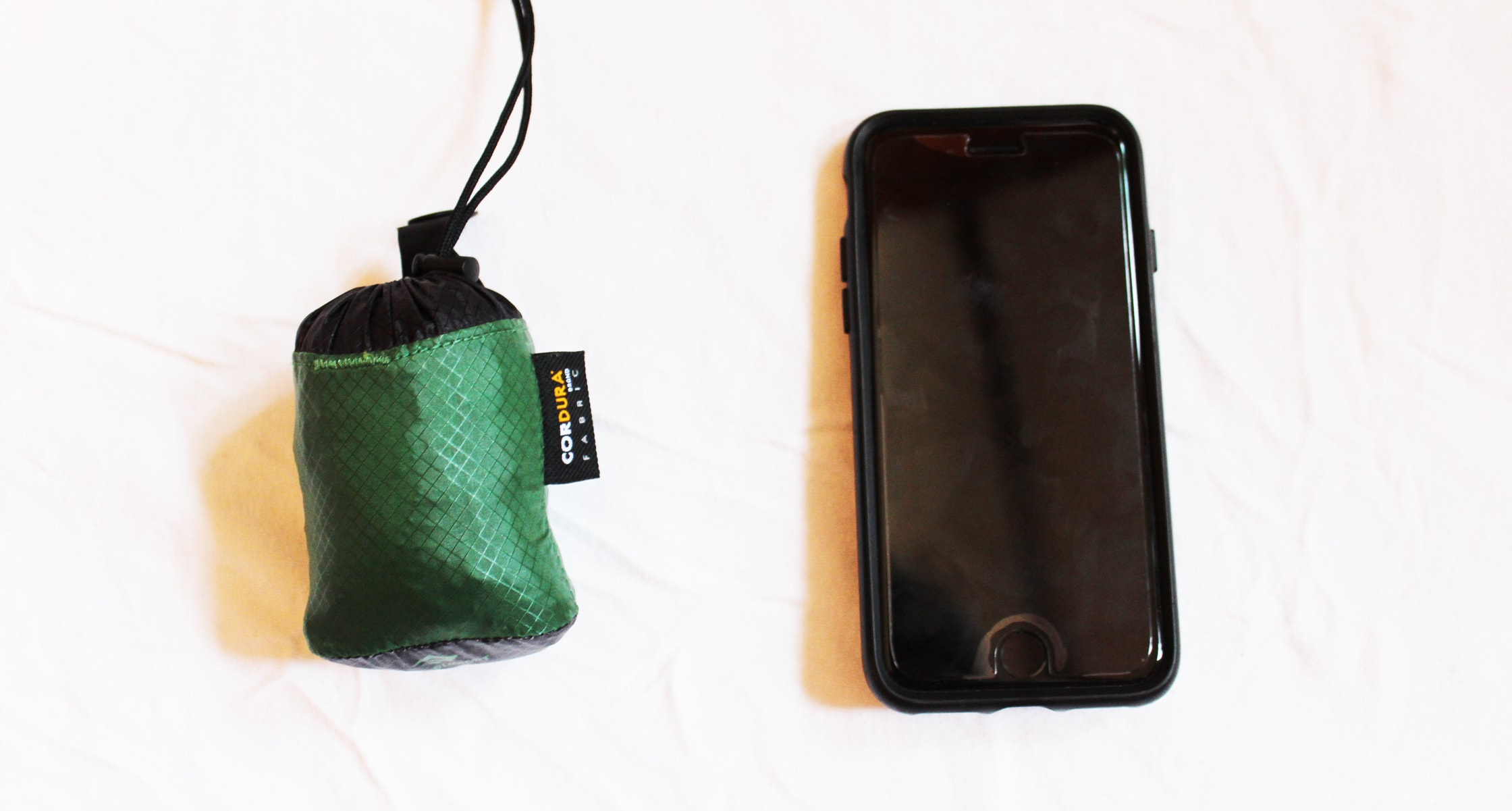 Sea to Summit Ultra-Sil Day Pack compressed size compared to iPhone 6