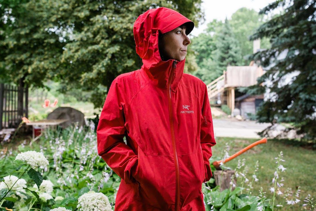 Beta SL Jacket in the Rain