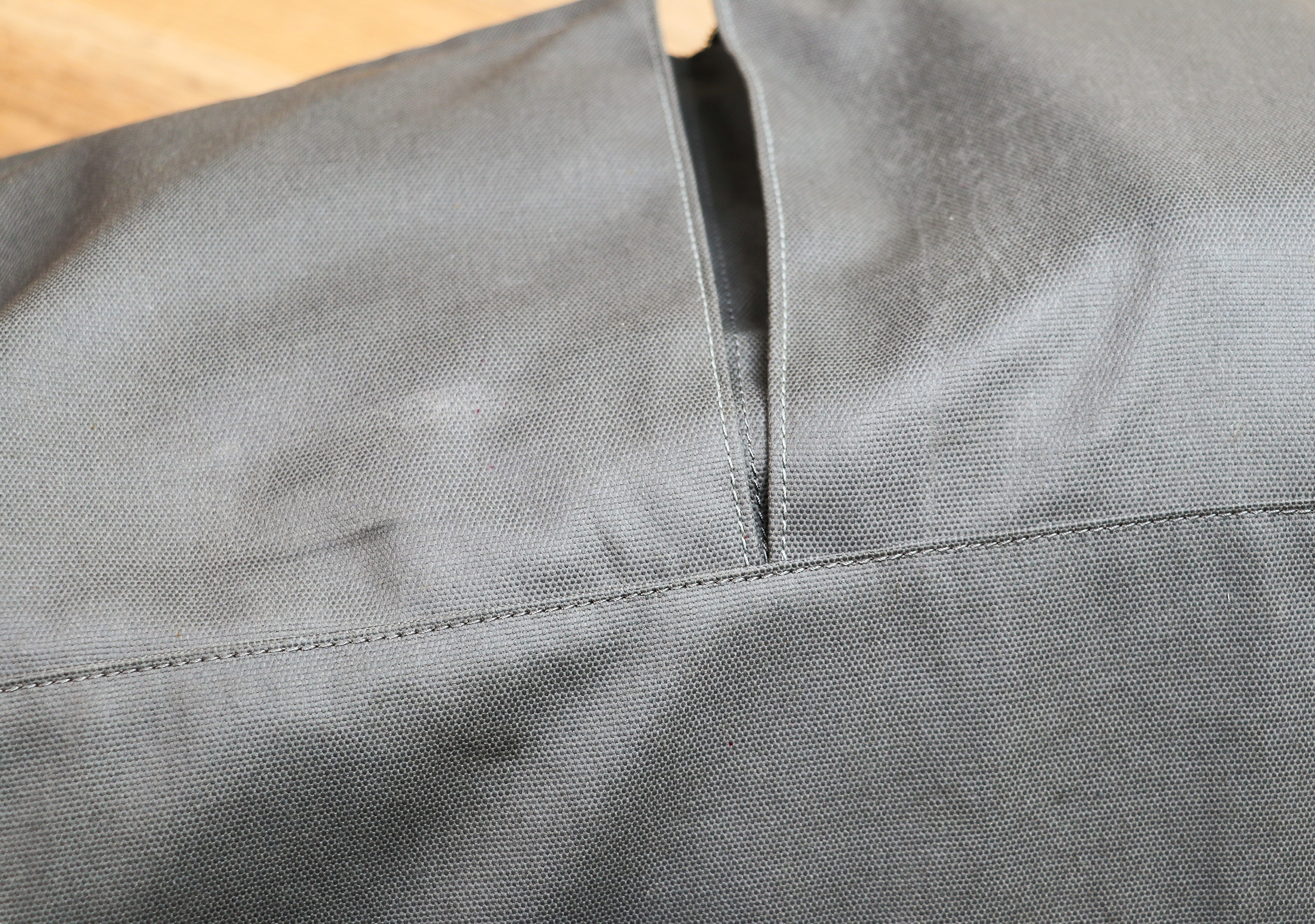 Abrasion Marks On The Coated Polyester Canvas