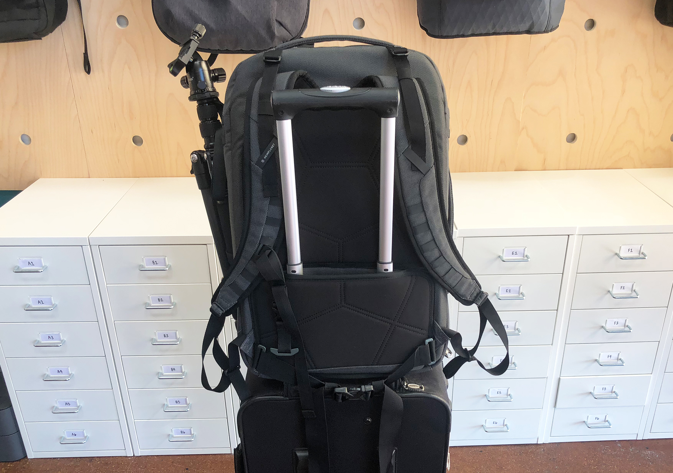 Heimplanet Transit Line Travel Pack On Luggage