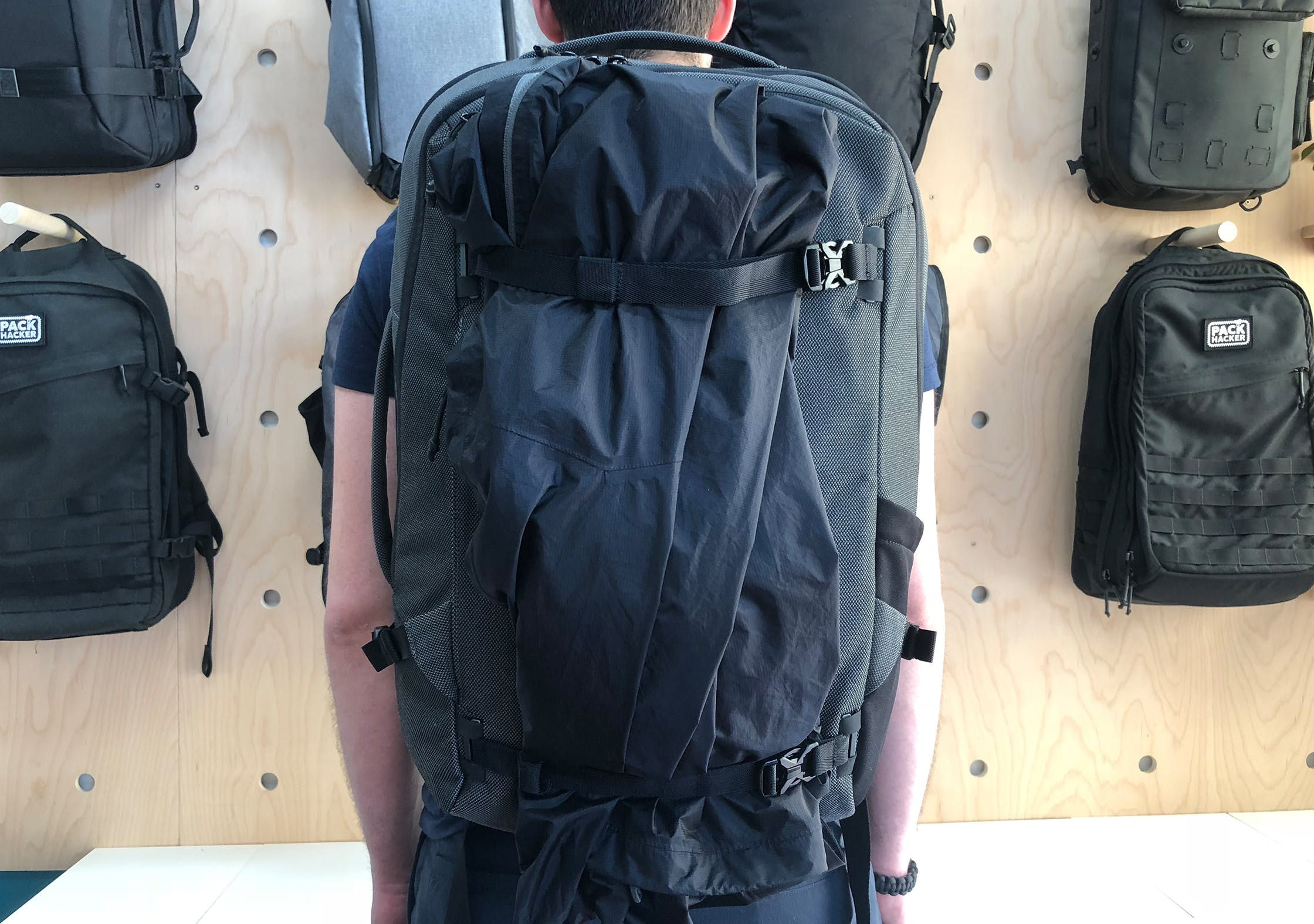 Heimplanet Transit Line Travel Pack Front Straps With Jacket