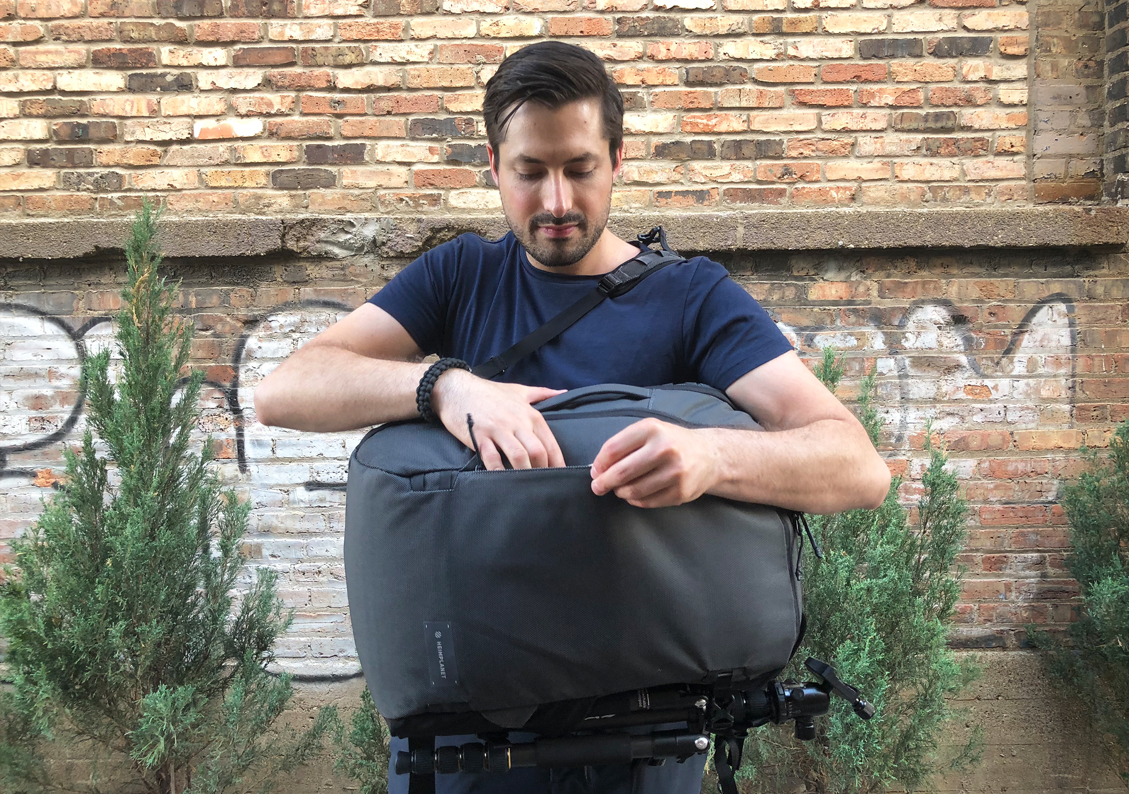 Heimplanet Transit Line Travel Pack Side Pocket Access