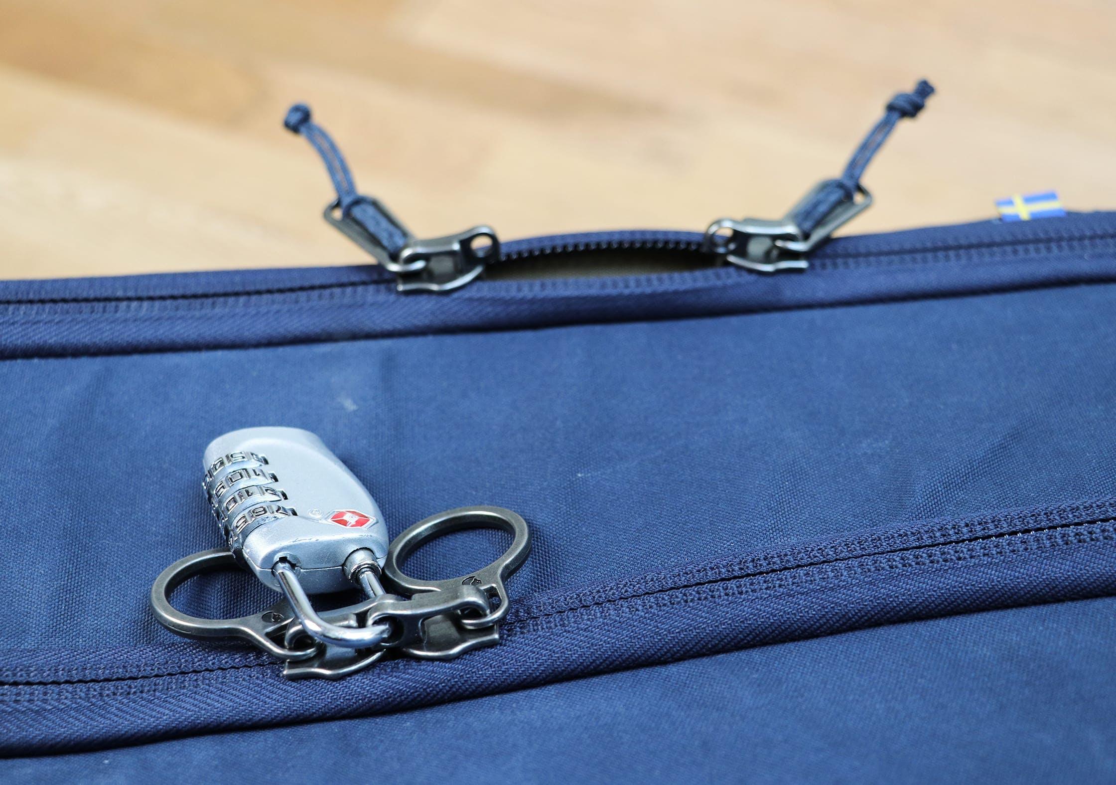 Fjallraven Travel Pack Lockable YKK Zips