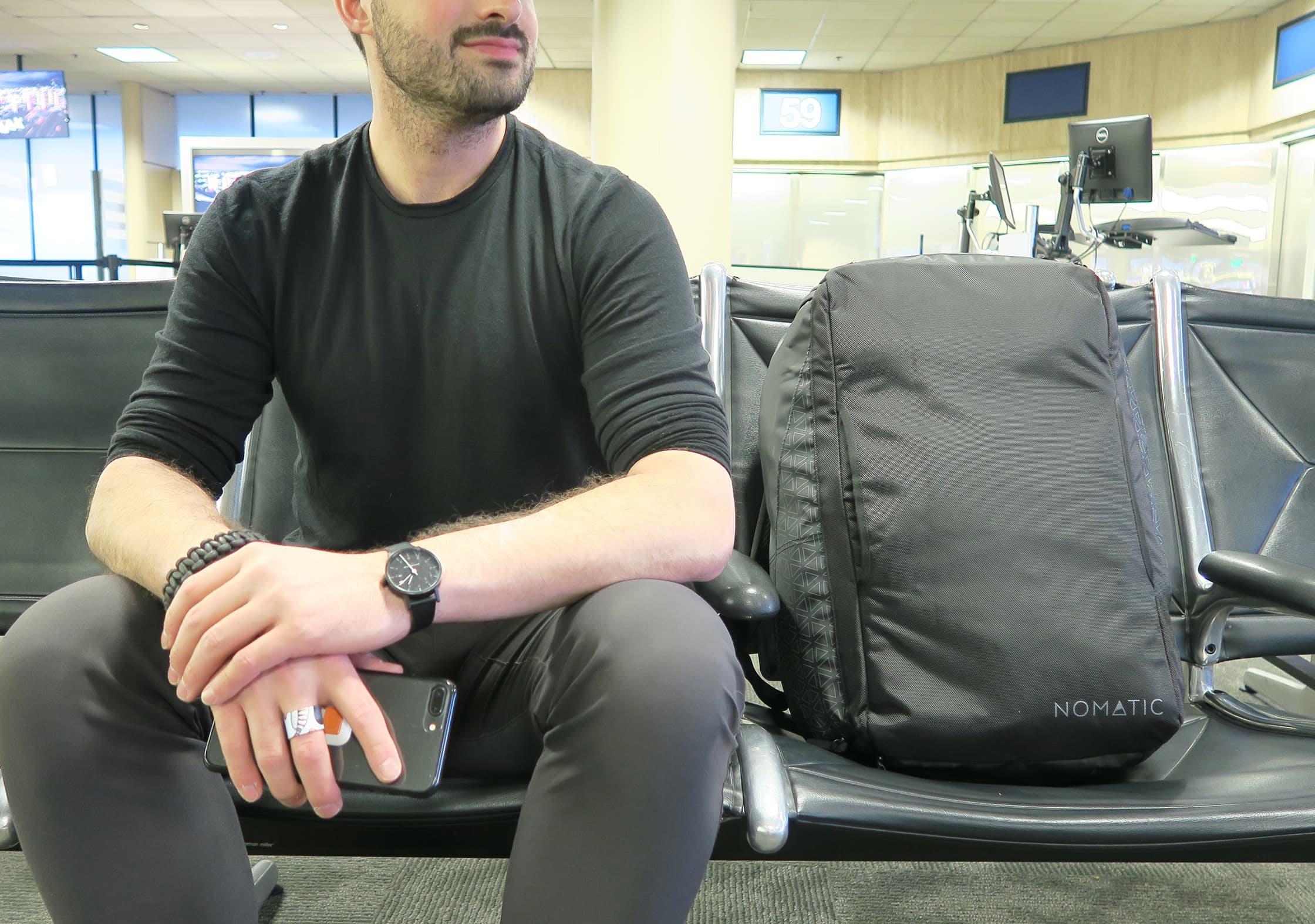 NOMATIC Travel Bag At Airport