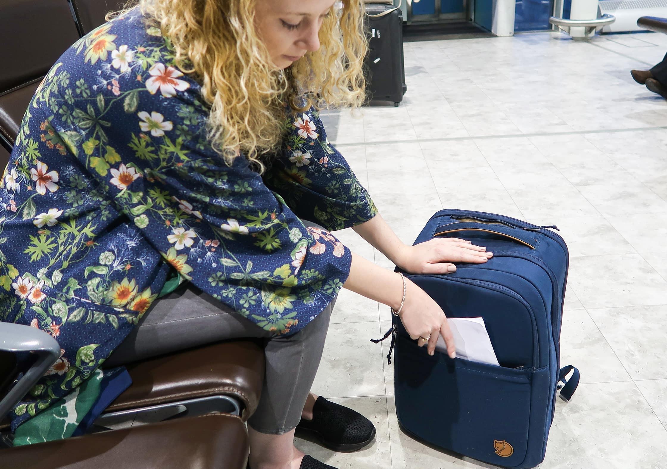 Fjallraven Travel Pack Slim Quick-Grab Pocket