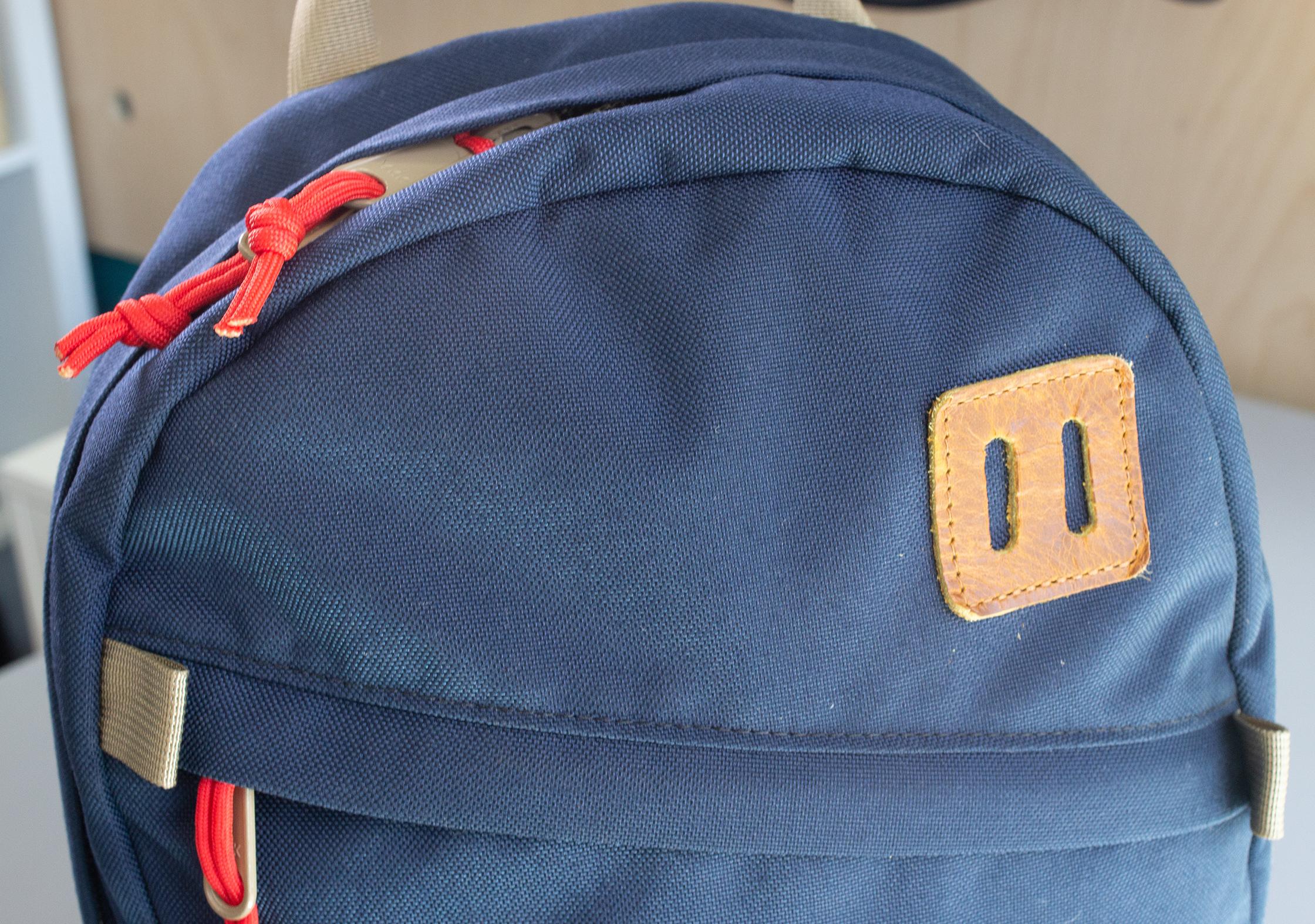 Topo Designs Daypack Slash Pocket and Lash Tab