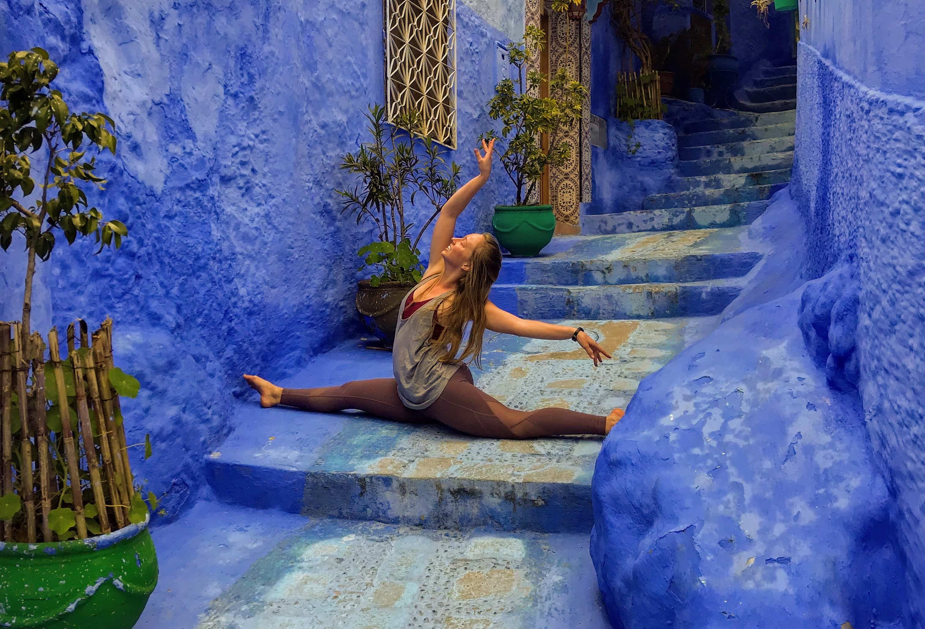 Brittney Martinson in Chefchaouen, Morocco